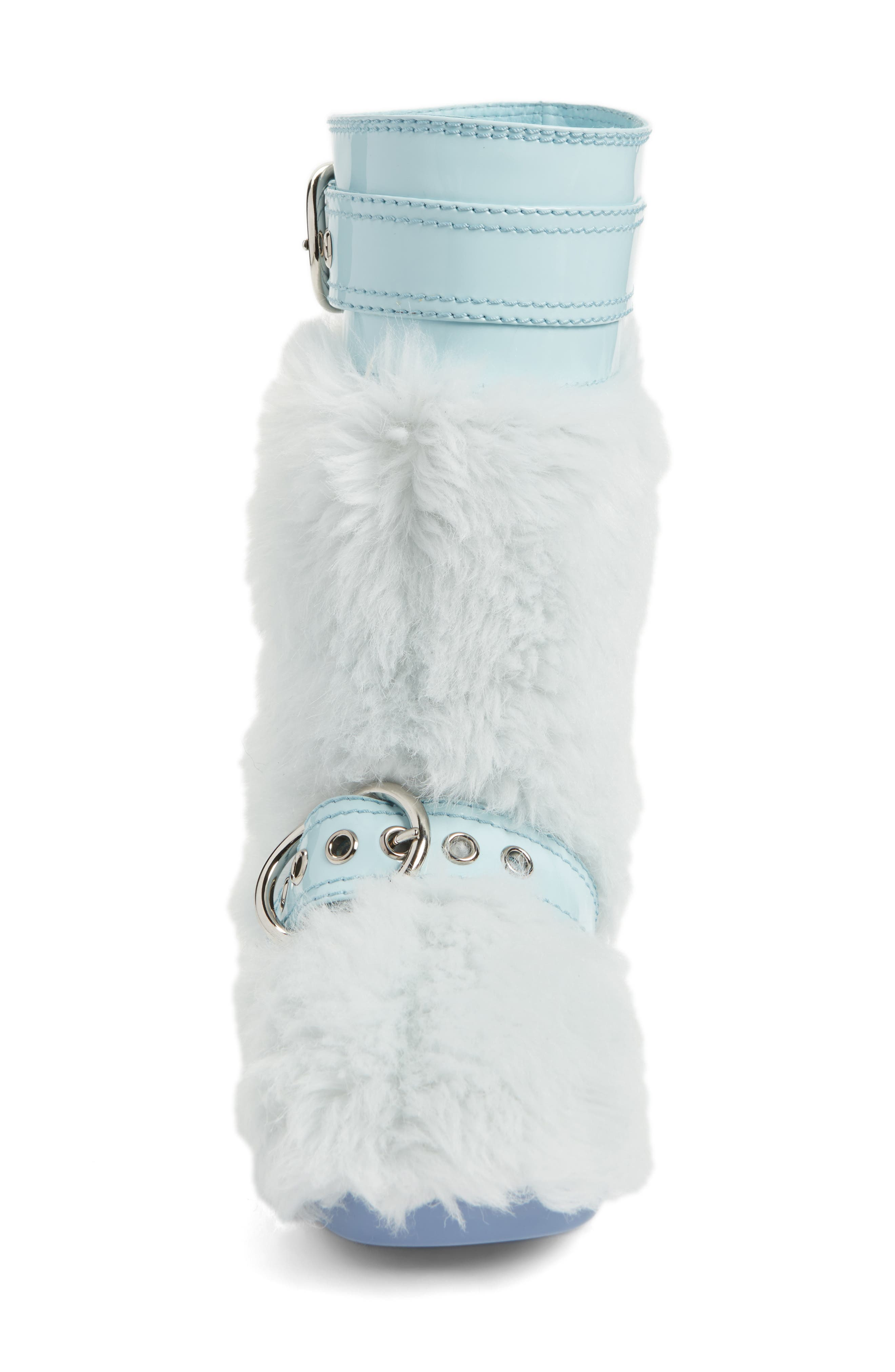 Faux Fur Buckle Boots,                             Alternate thumbnail 4, color,                             453
