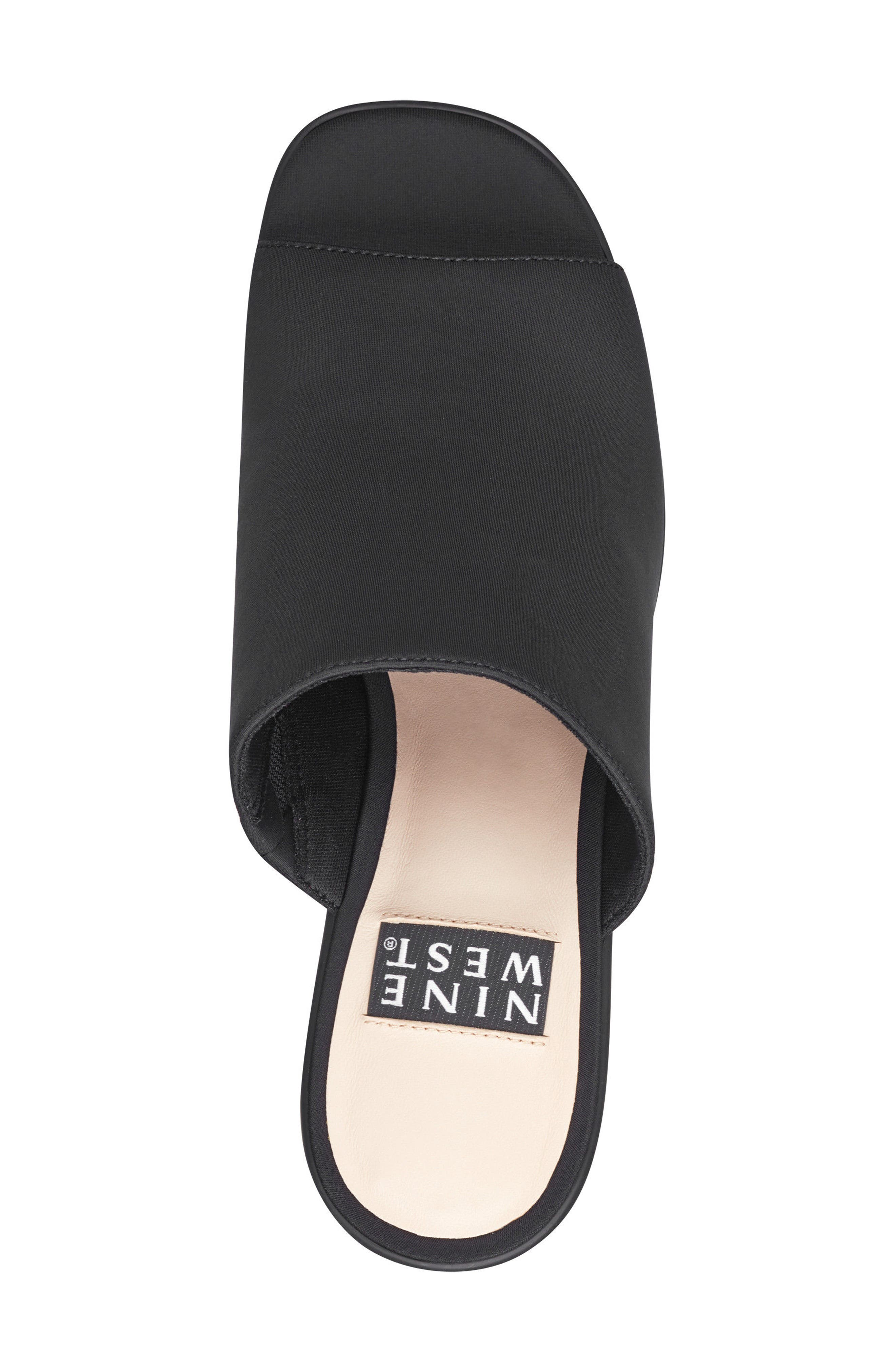 Tomo - 40th Anniversary Capsule Collection Platform Sandal,                             Alternate thumbnail 5, color,                             BLACK FABRIC