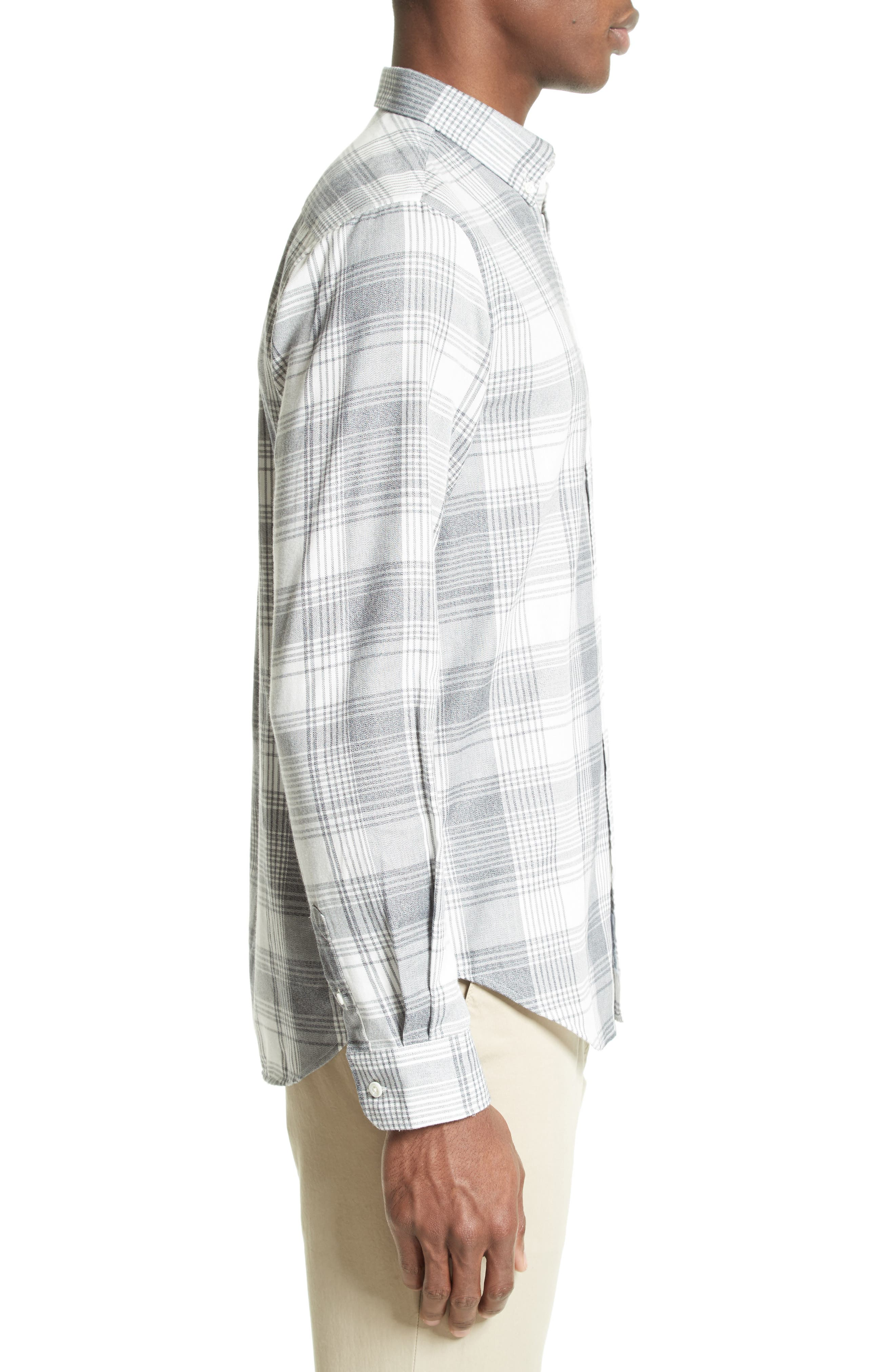 Woven Check Sport Shirt,                             Alternate thumbnail 4, color,                             410