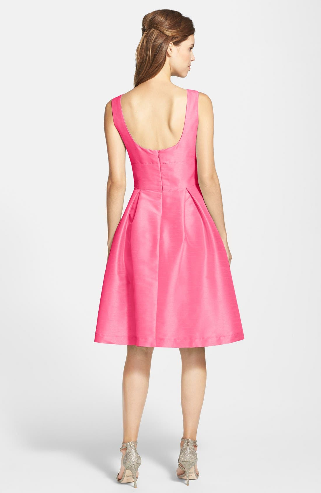 Dupioni Fit & Flare Dress,                             Alternate thumbnail 24, color,