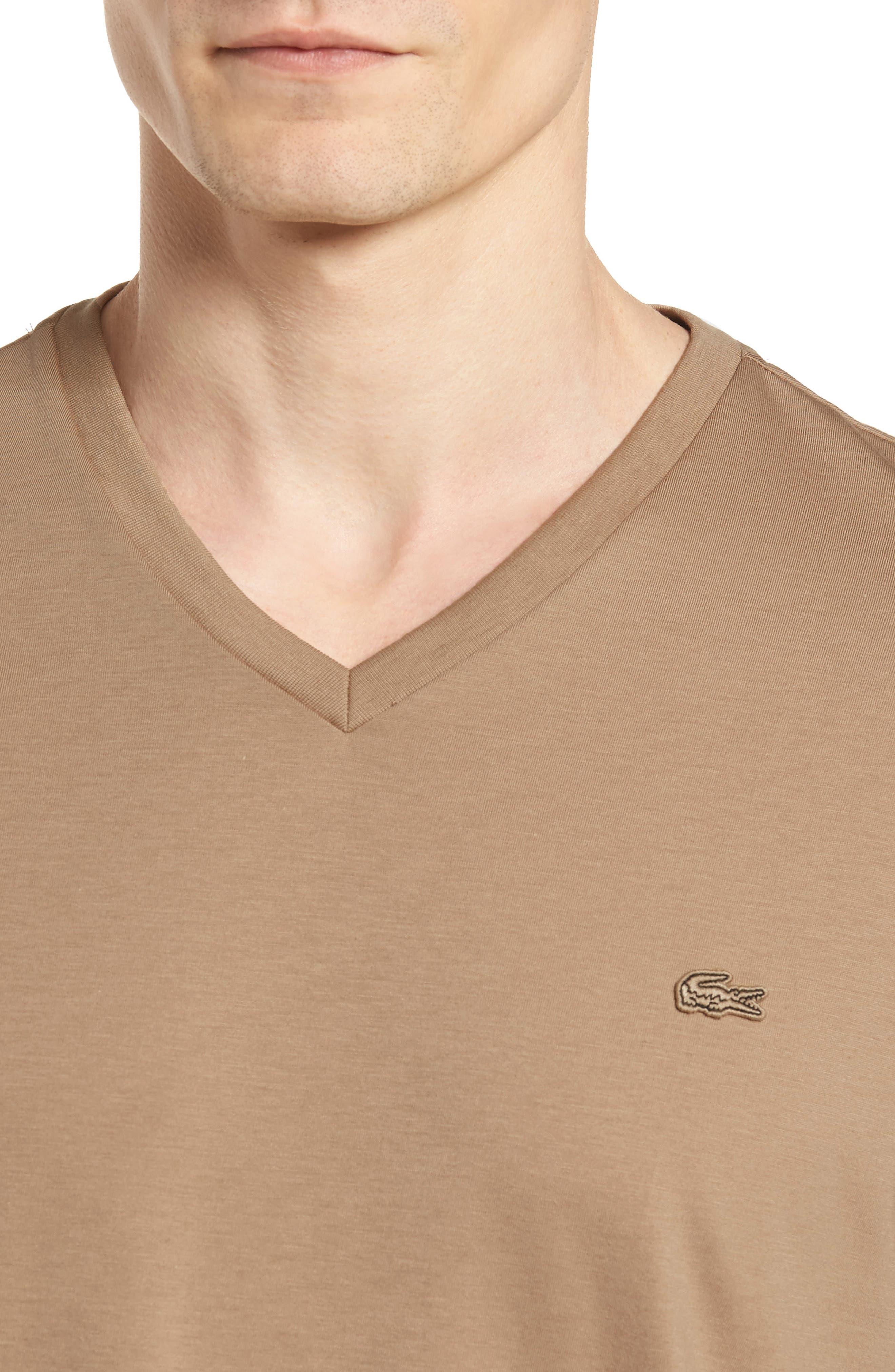 Pima Cotton T-Shirt,                             Alternate thumbnail 4, color,                             KRAFT BEIGE