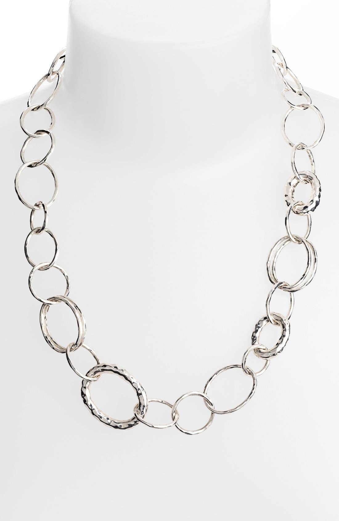 'Glamazon - Bastille' Sterling Silver Link Necklace,                             Alternate thumbnail 3, color,                             049