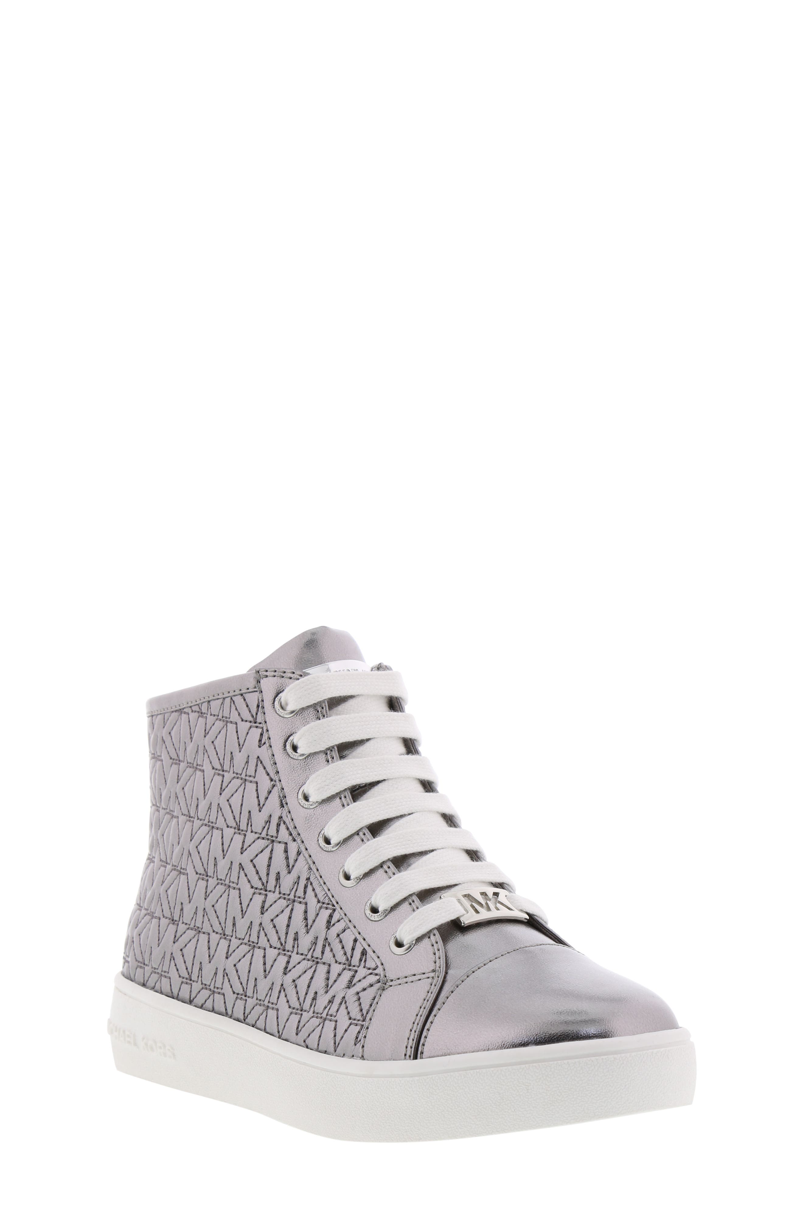 Ivy Logo High Top Sneaker,                             Main thumbnail 1, color,                             PEWTER