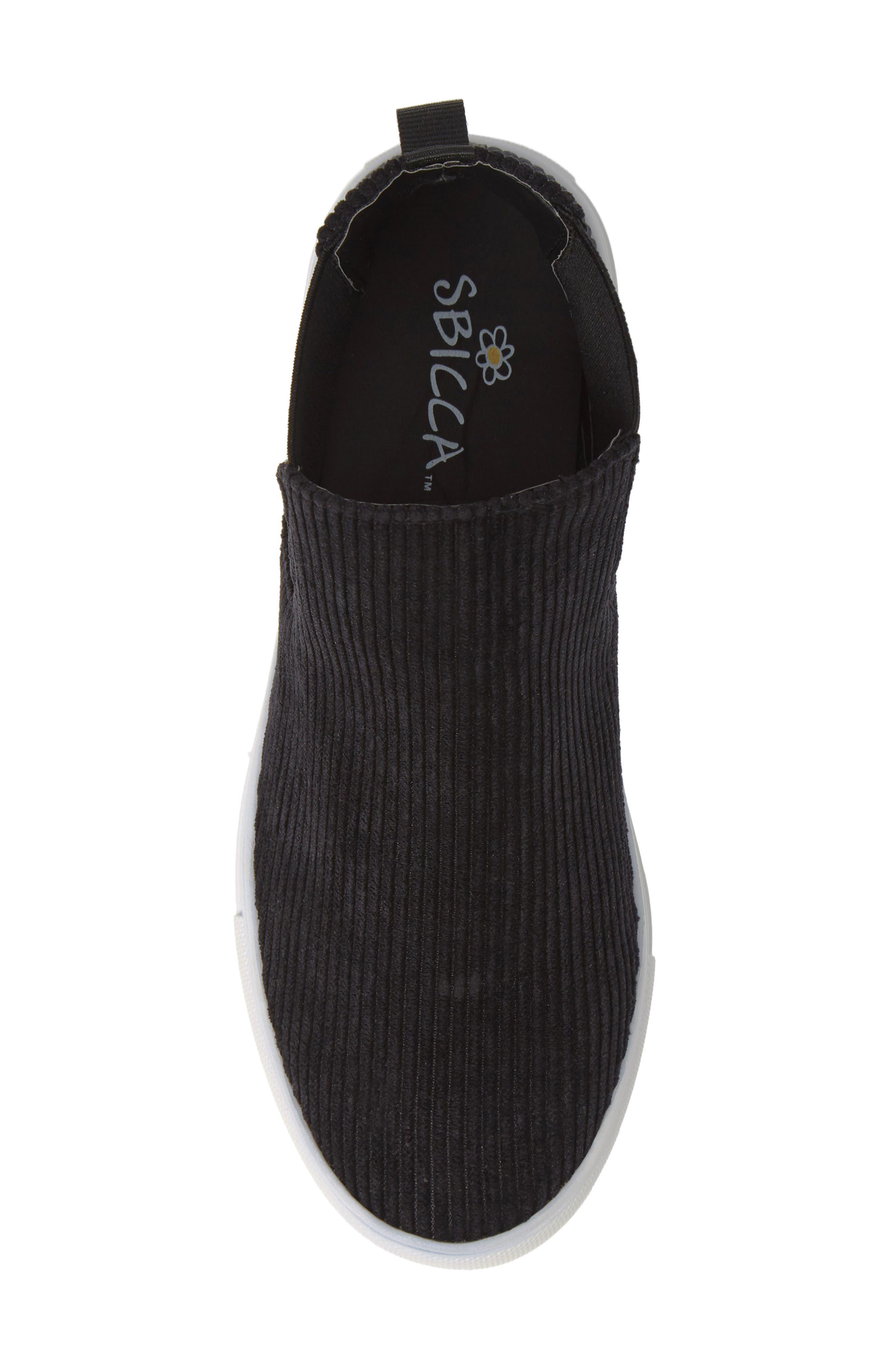 Stratford High Top Sneaker,                             Alternate thumbnail 5, color,                             BLACK FABRIC
