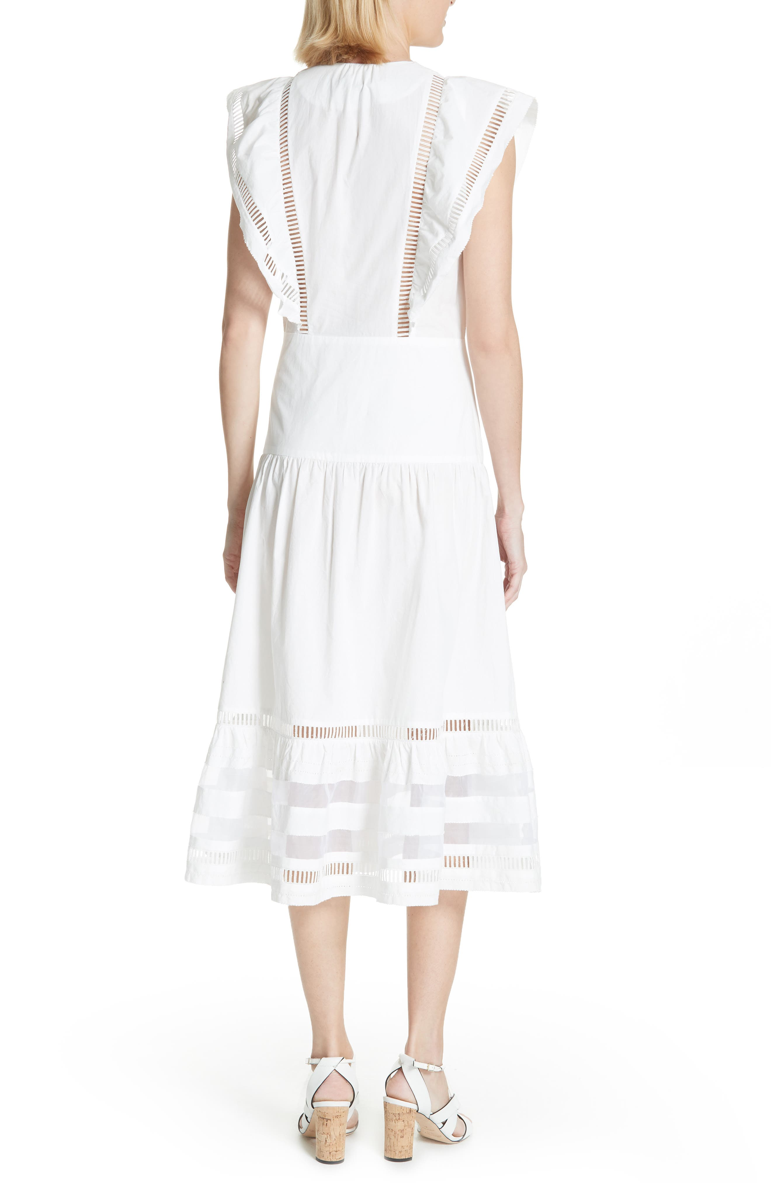 Capri Ladder Stitch Trim Midi Dress,                             Alternate thumbnail 2, color,                             903