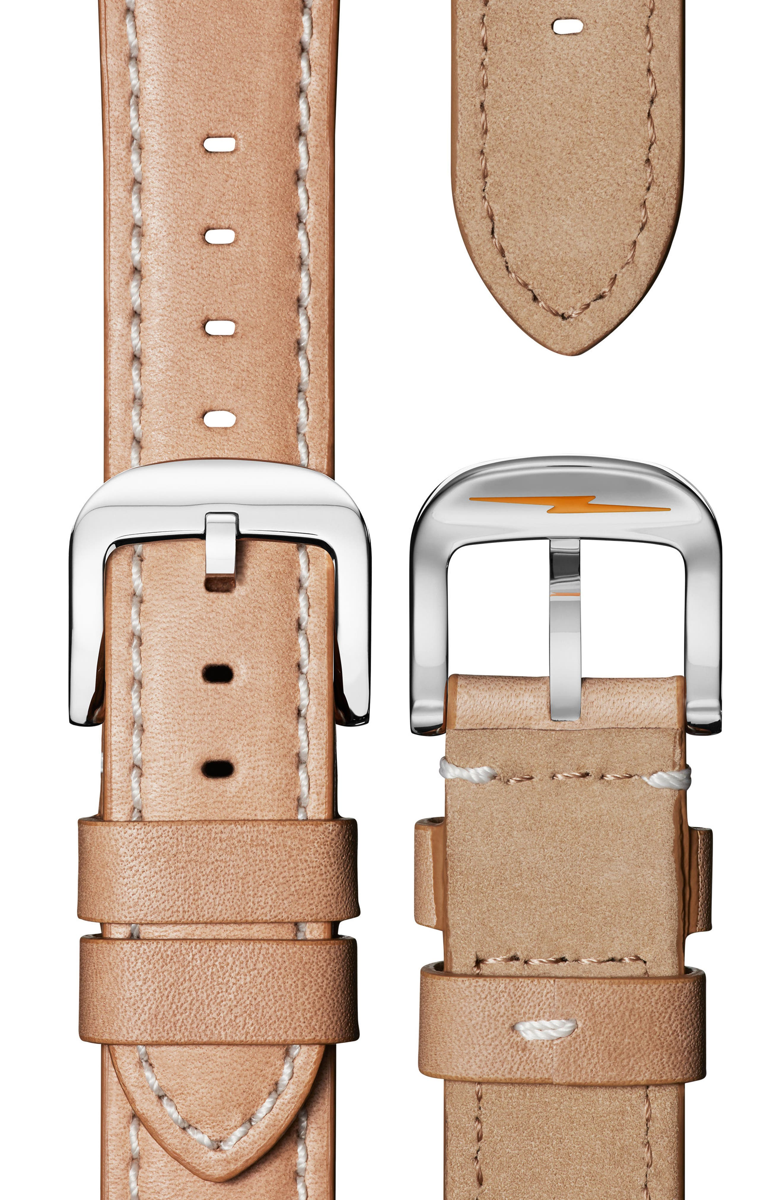 'Runwell' Leather Strap Watch, 41mm,                             Alternate thumbnail 3, color,                             NATURAL/ ROSE GOLD/ SILVER