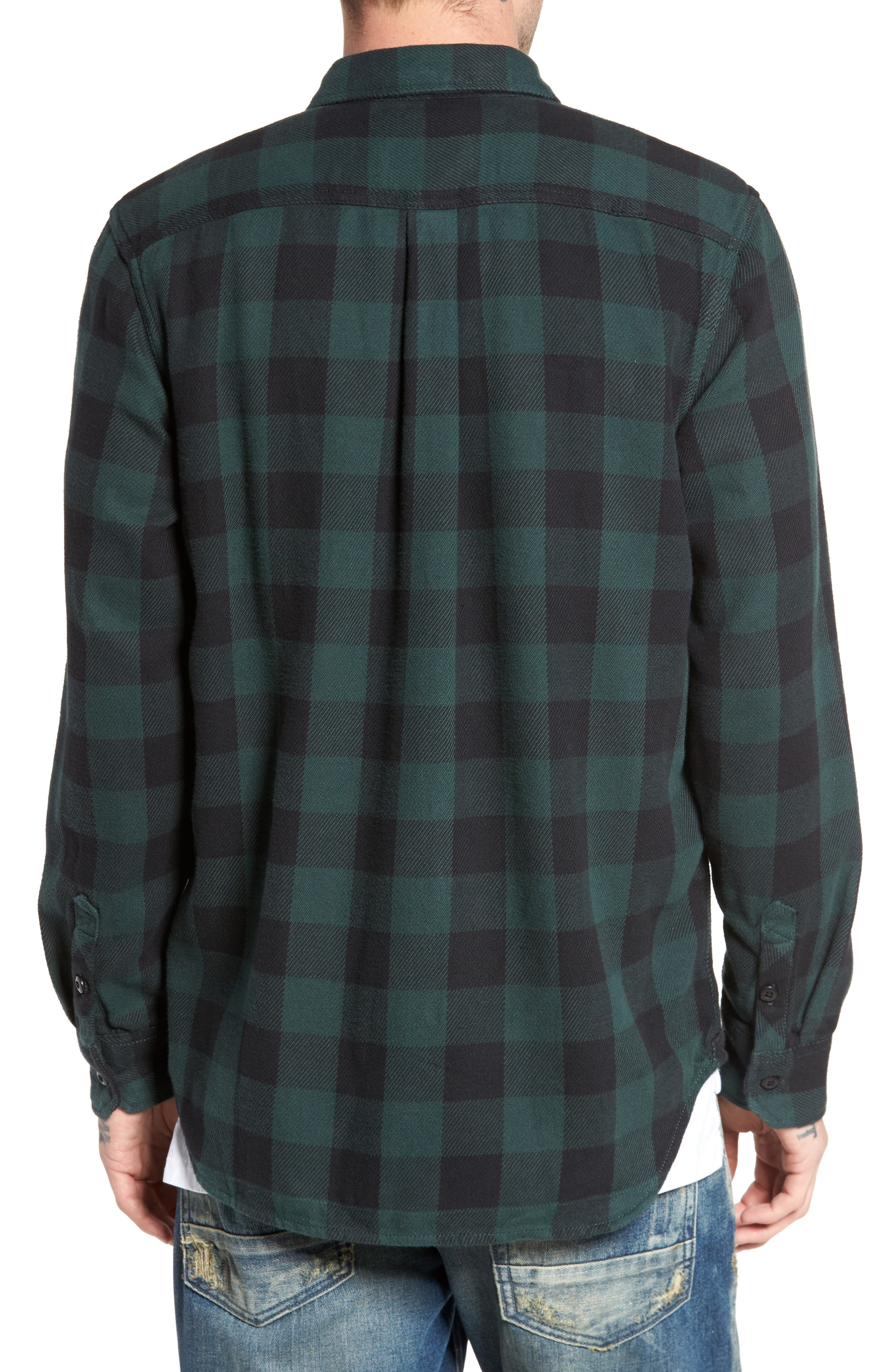 Wisner Plaid Shirt,                             Alternate thumbnail 2, color,                             001