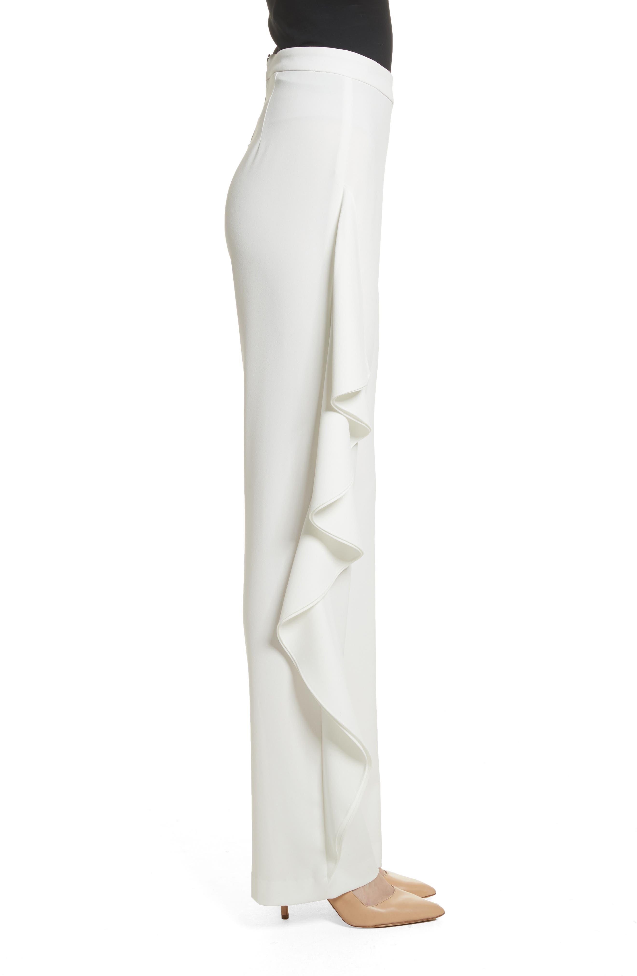 Estell Ruffle Side Pants,                             Alternate thumbnail 3, color,