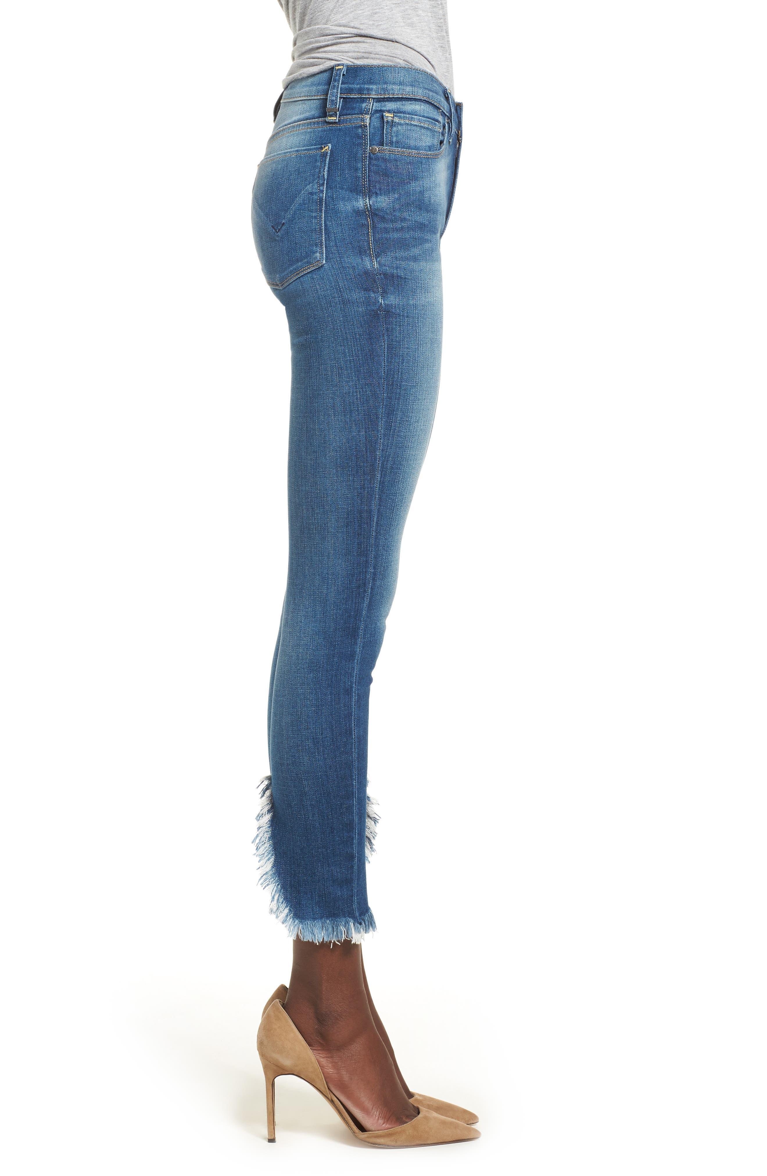 Nico Ankle Super Skinny Jeans,                             Alternate thumbnail 3, color,                             BLUE MONDAY