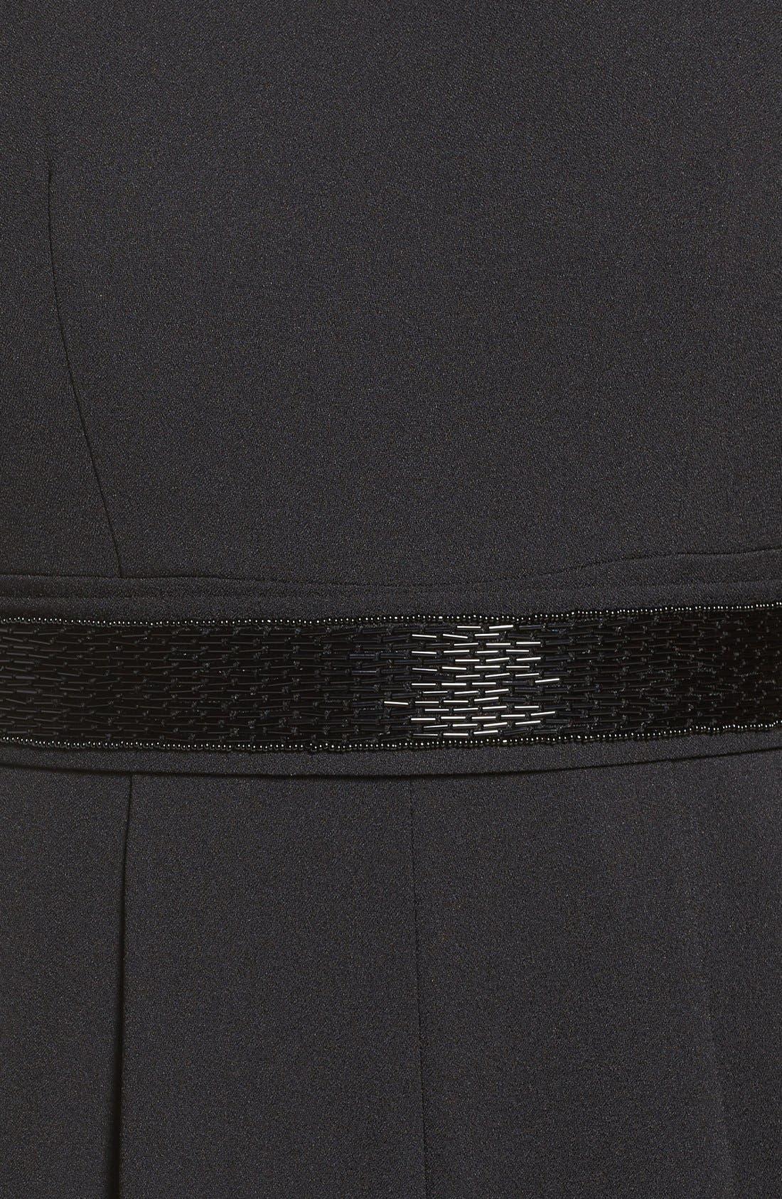 Embellished Cold Shoulder Jumpsuit,                             Alternate thumbnail 6, color,                             001