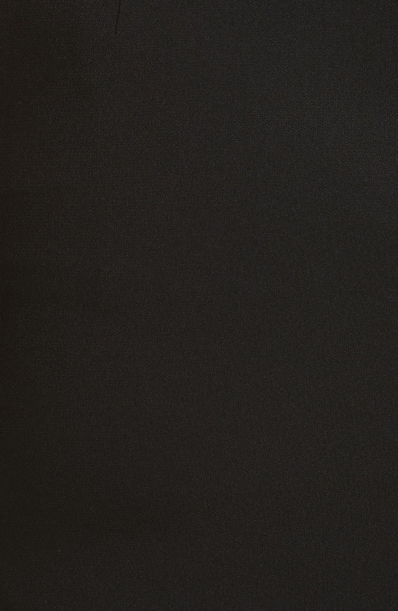 Dora Asymmetrical Miniskirt,                             Alternate thumbnail 5, color,                             001
