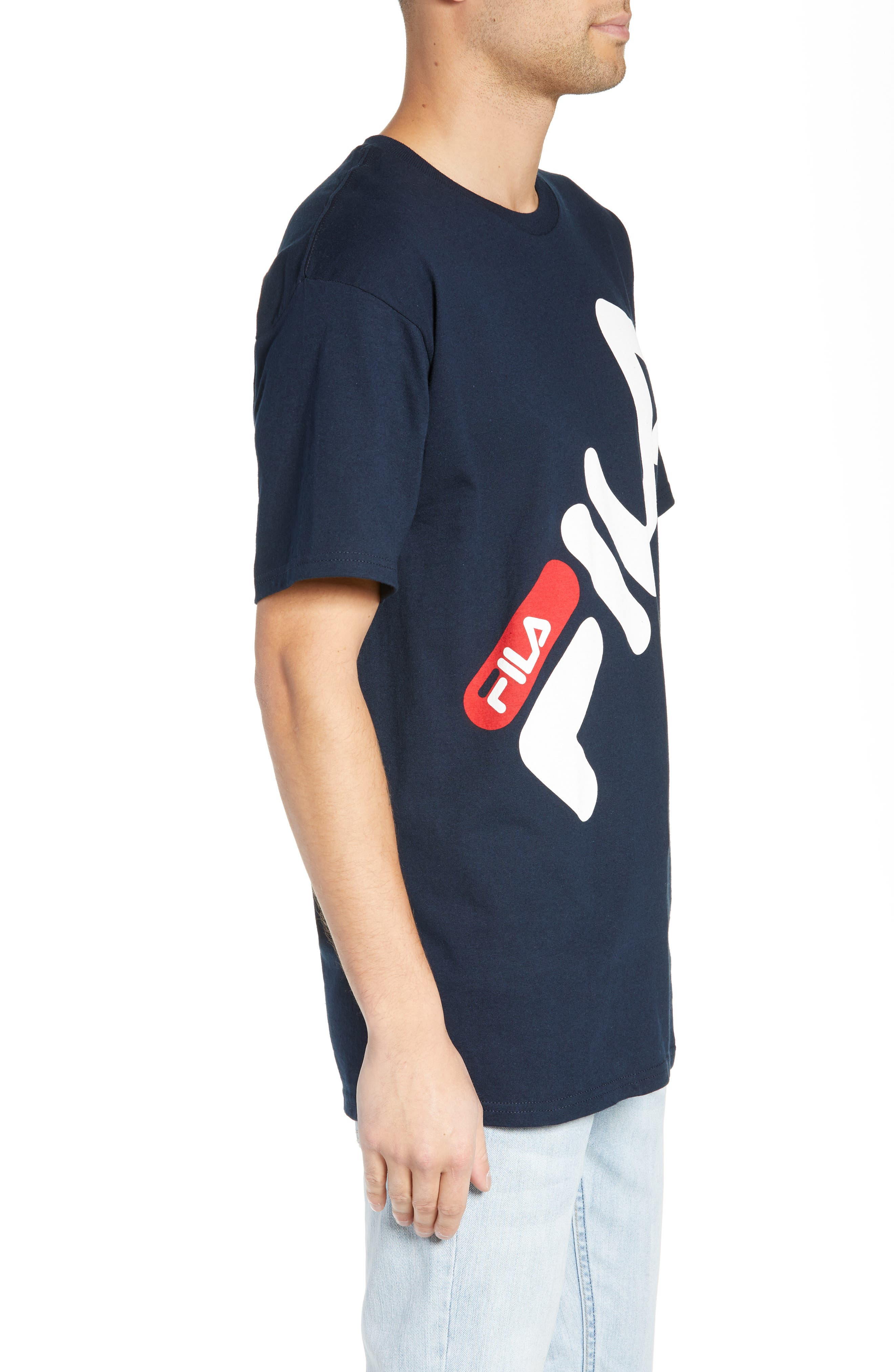 Micah Logo T-Shirt,                             Alternate thumbnail 3, color,                             NAVY/ WHITE/ CHINESE RED