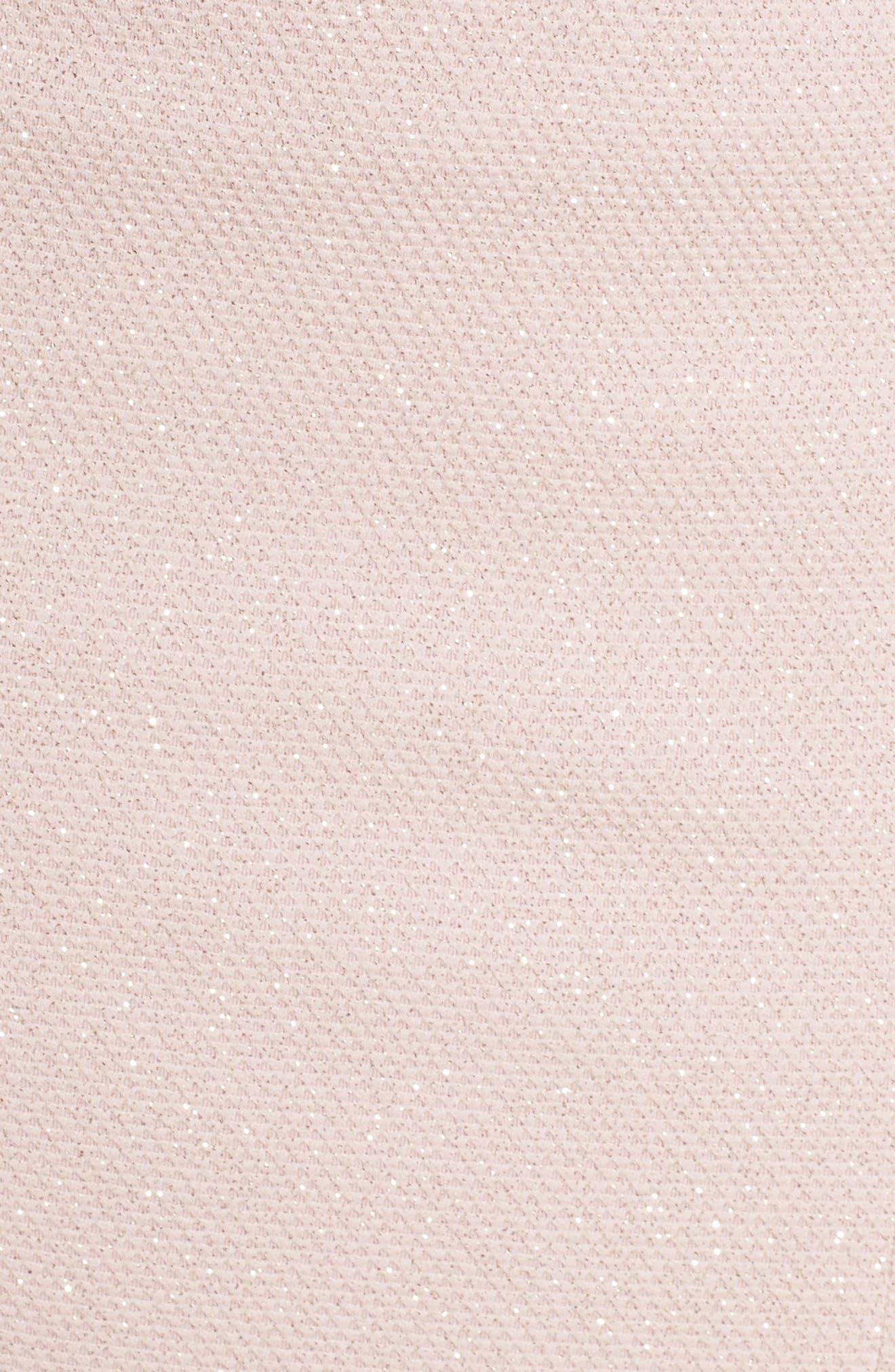 Embellished Glitter Trumpet Gown,                             Alternate thumbnail 5, color,                             273