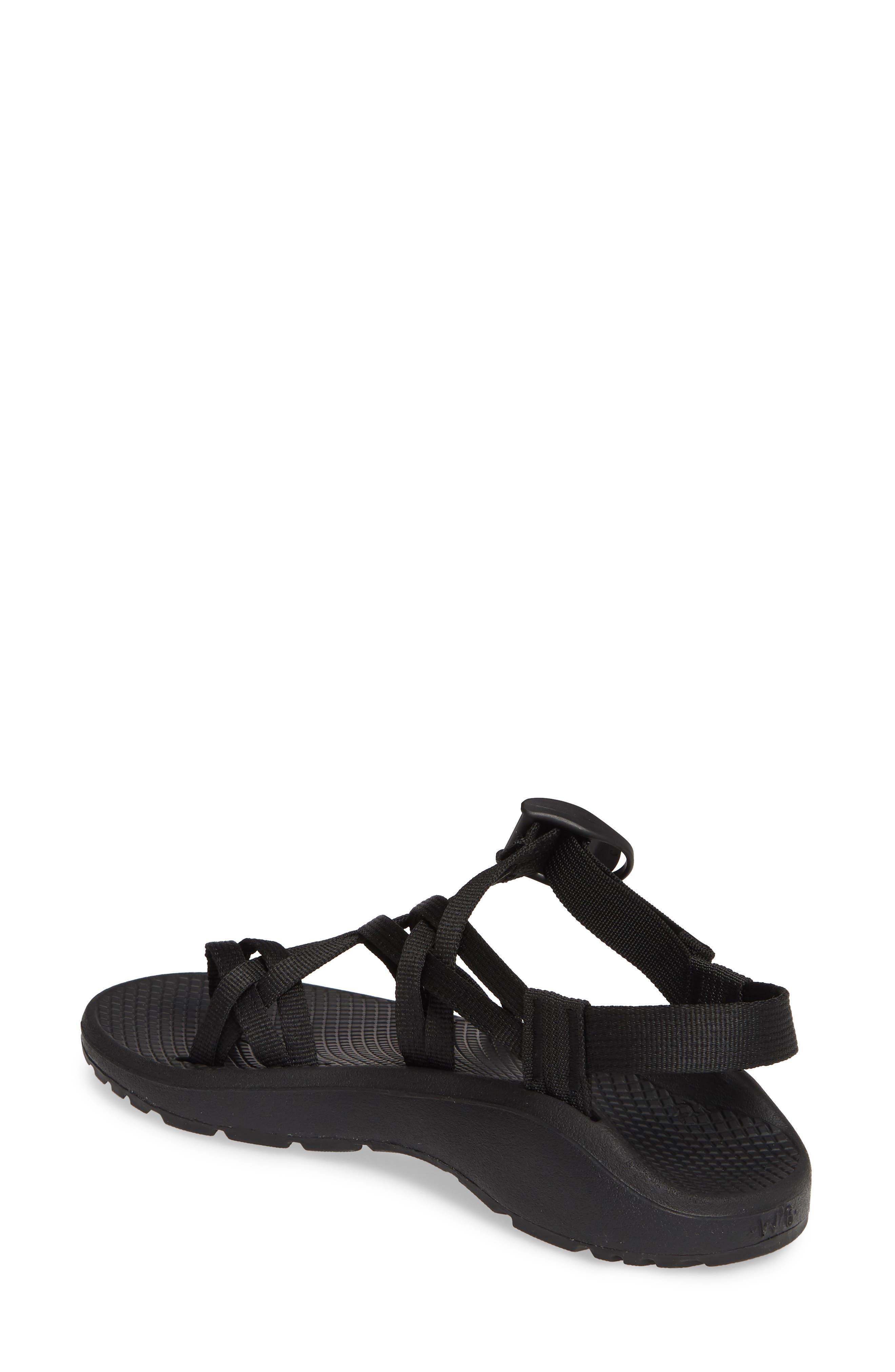 CHACO,                             Z/Cloud X2 Sandal,                             Alternate thumbnail 2, color,                             SOLID BLACK FABRIC