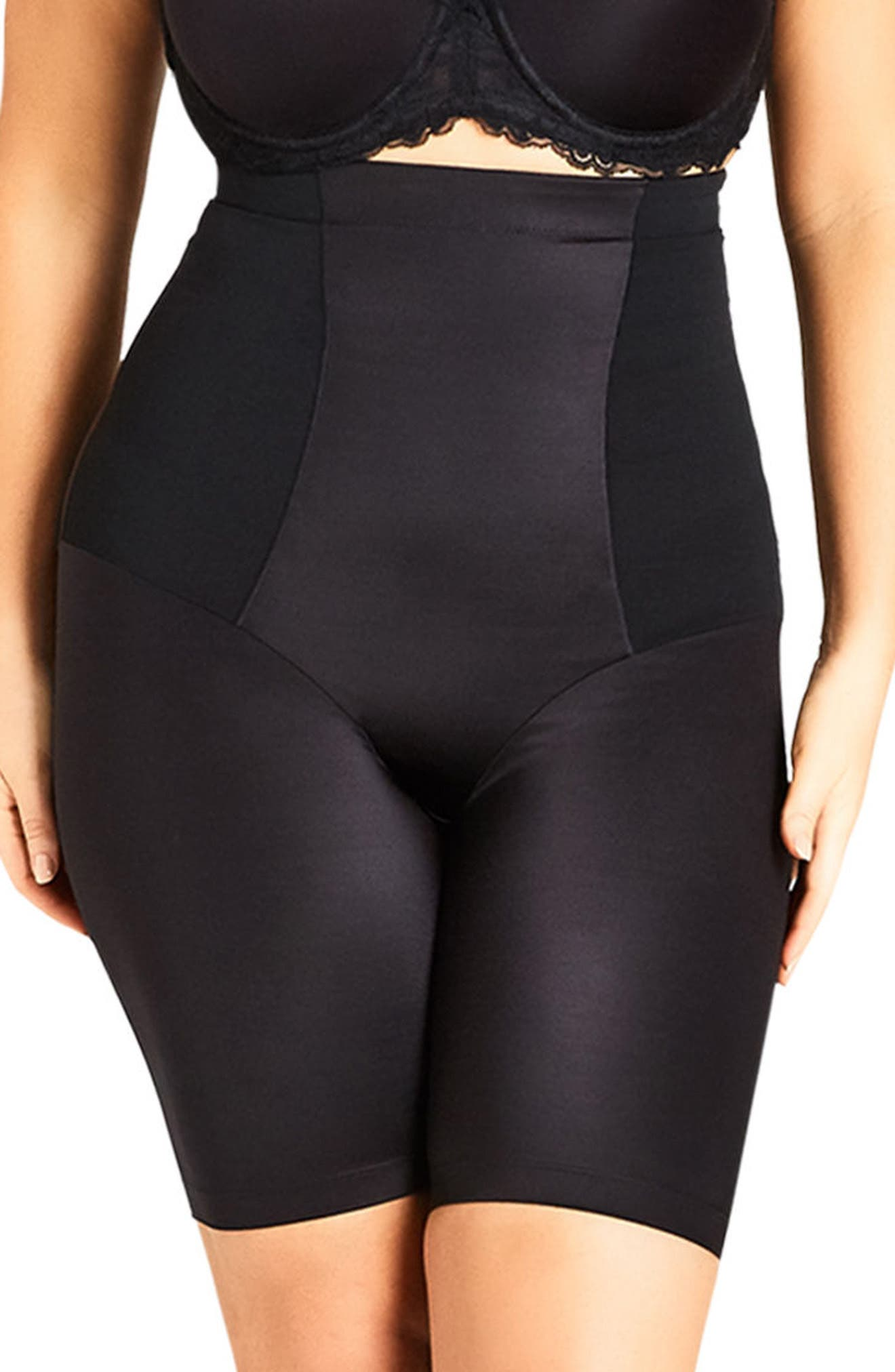 Smooth & Chic Thigh Shaper,                         Main,                         color, BLACK