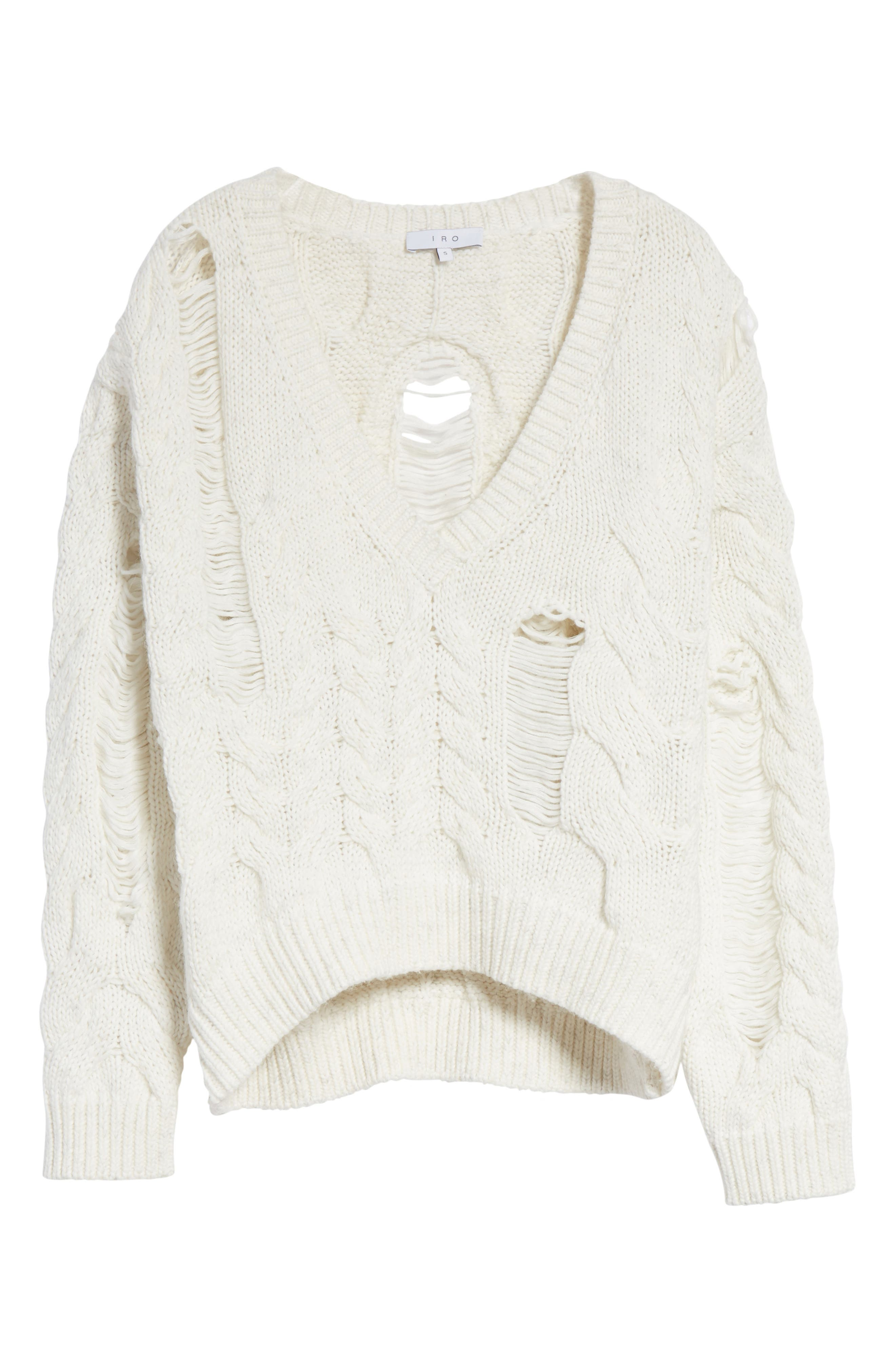 Fighla Distressed Sweater,                             Alternate thumbnail 6, color,                             010
