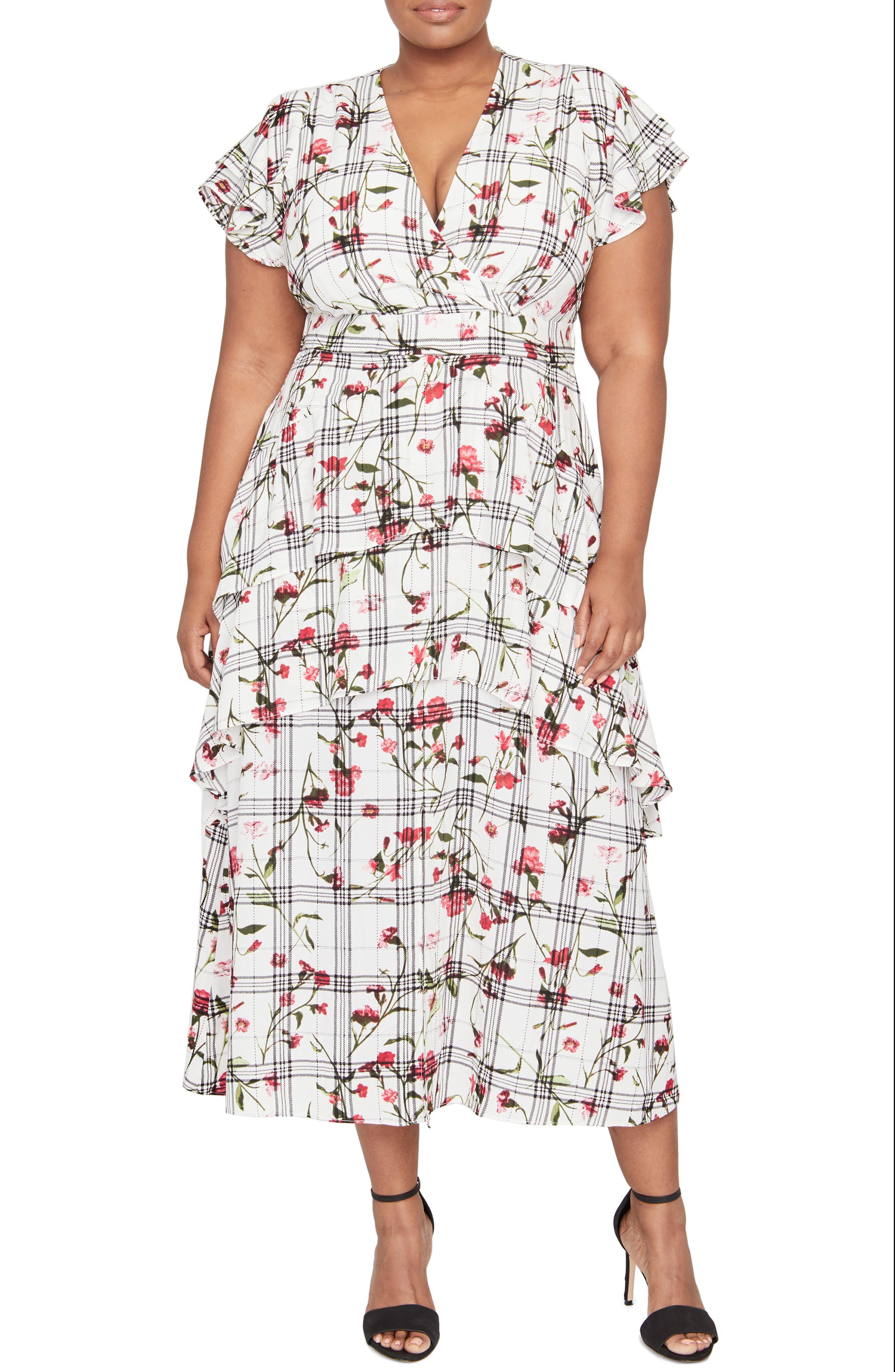 Plus Size Rachel Roy Lucia Flutter Sleeve Dress, Ivory