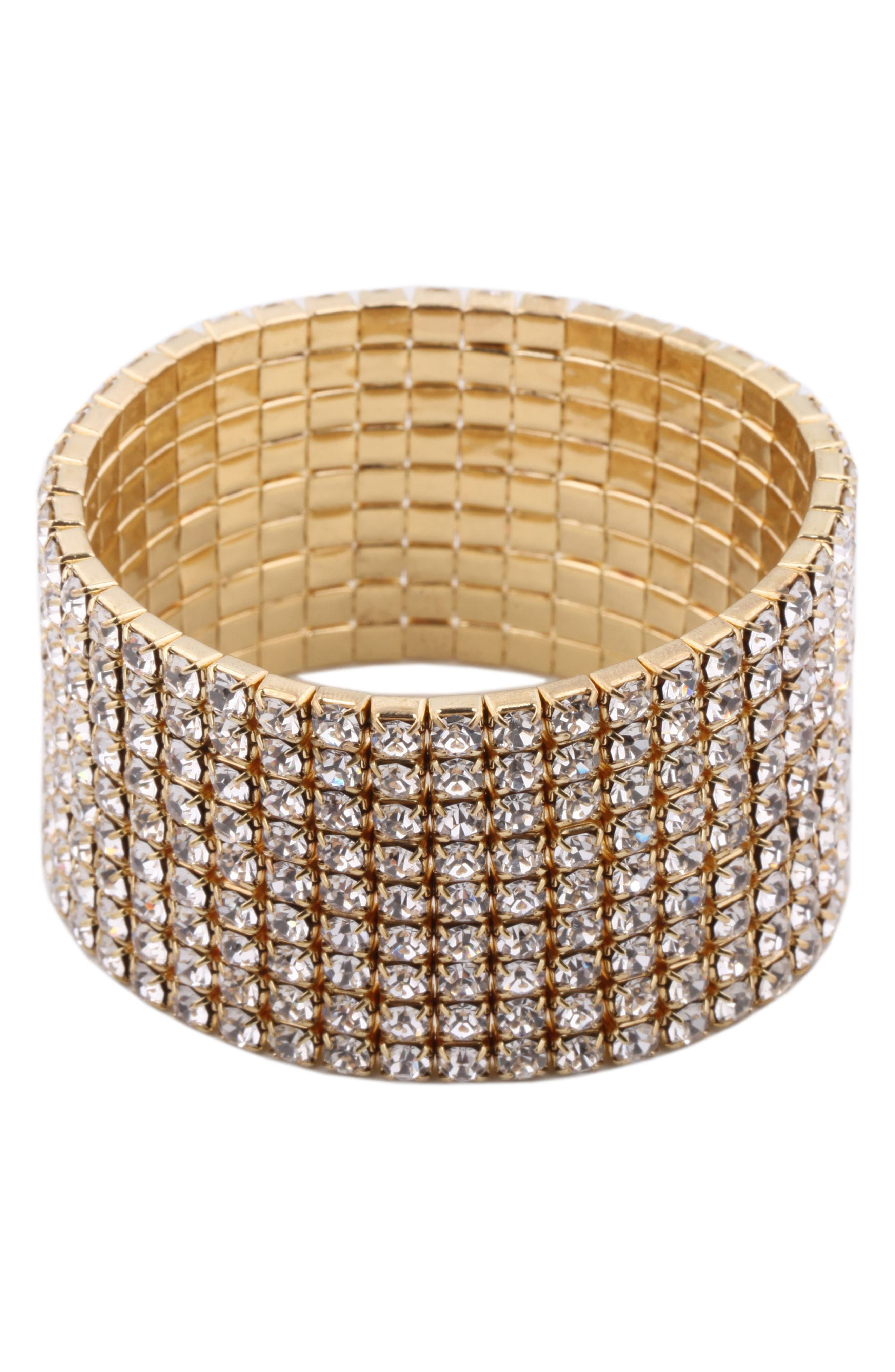 Crystal Stretch Crystal Bracelet,                             Main thumbnail 1, color,                             716