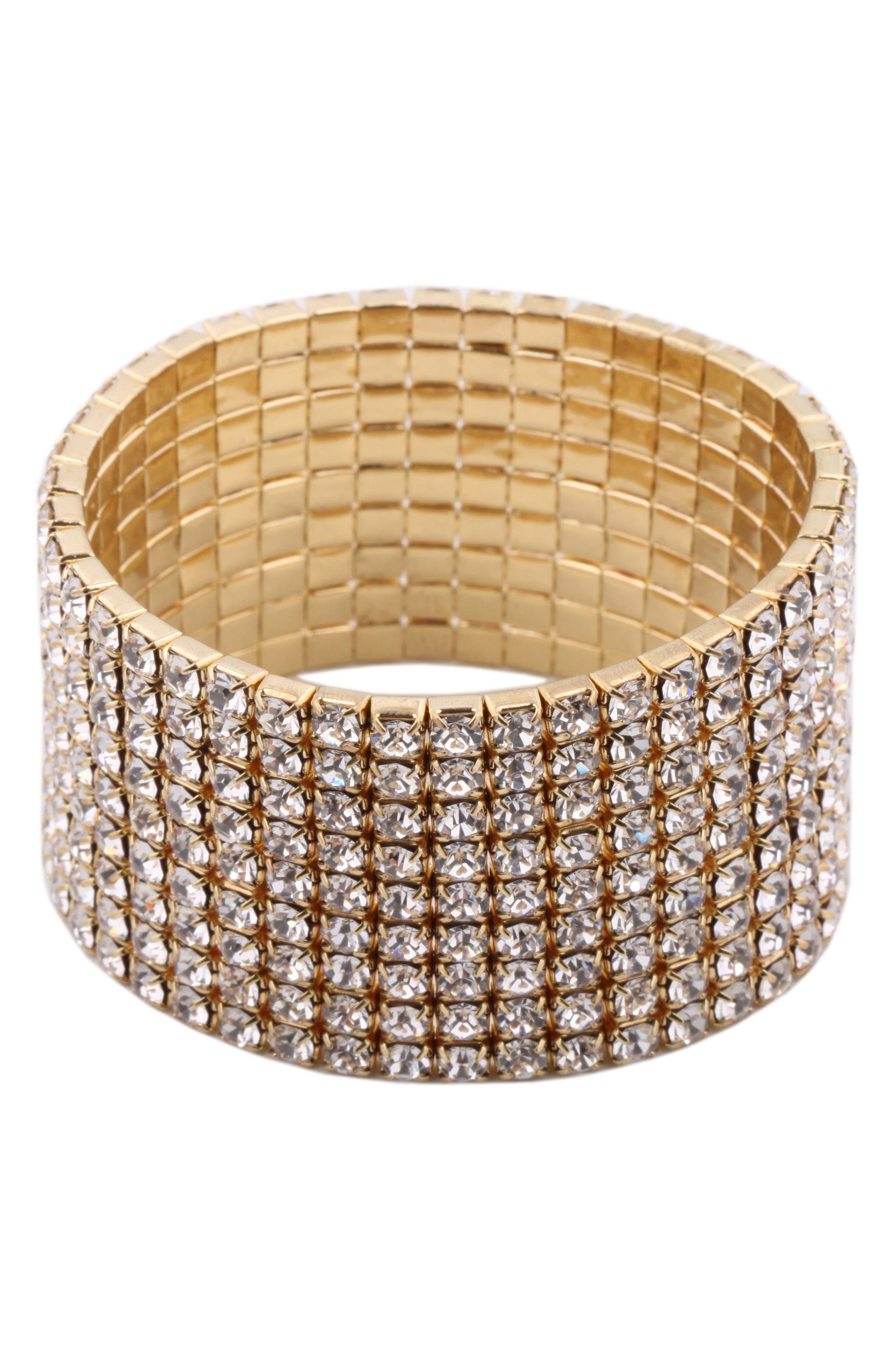 Crystal Stretch Crystal Bracelet,                         Main,                         color, 716