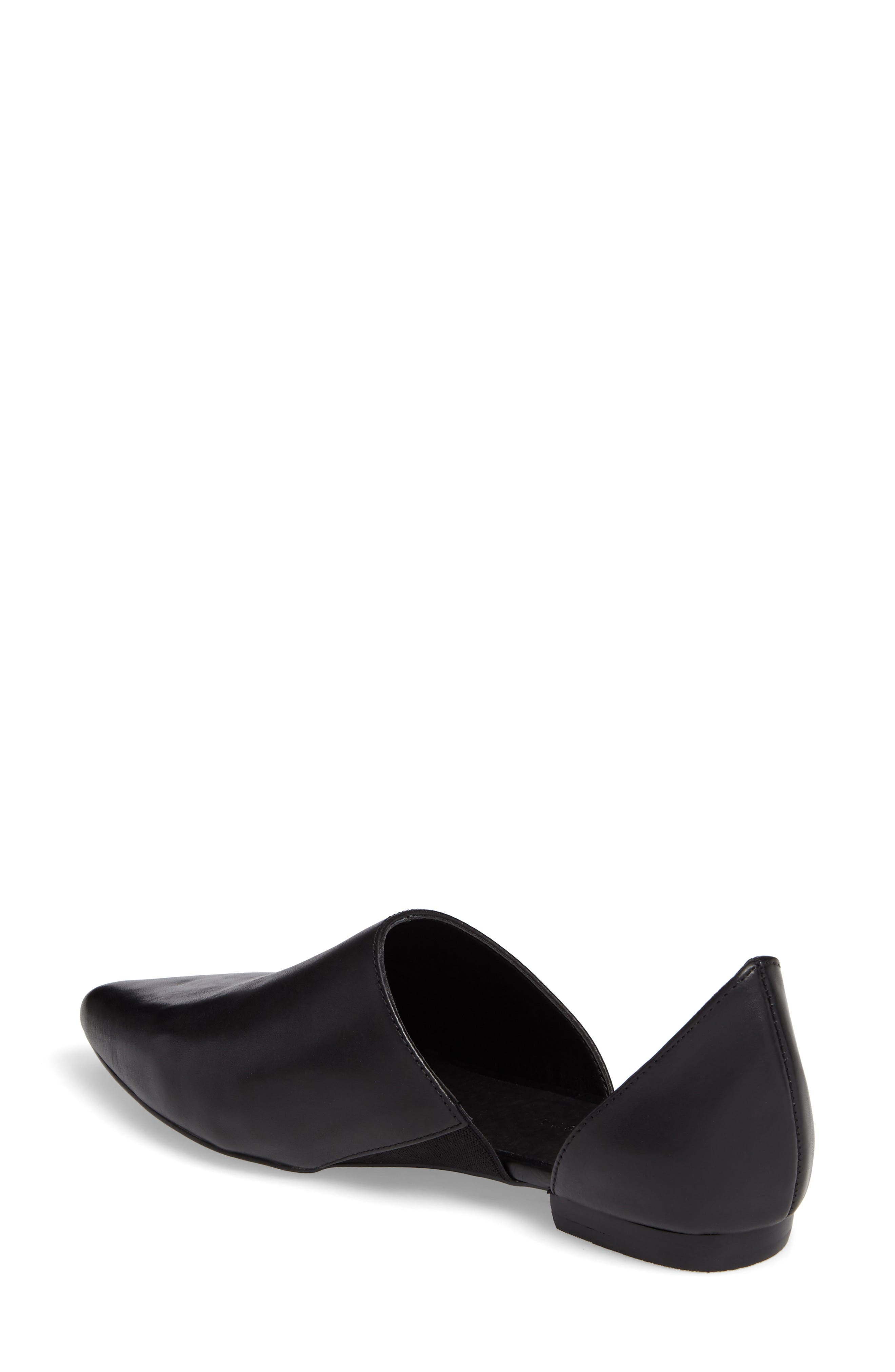 Danny d'Orsay Flat,                             Alternate thumbnail 2, color,                             BLACK/ BLACK LEATHER