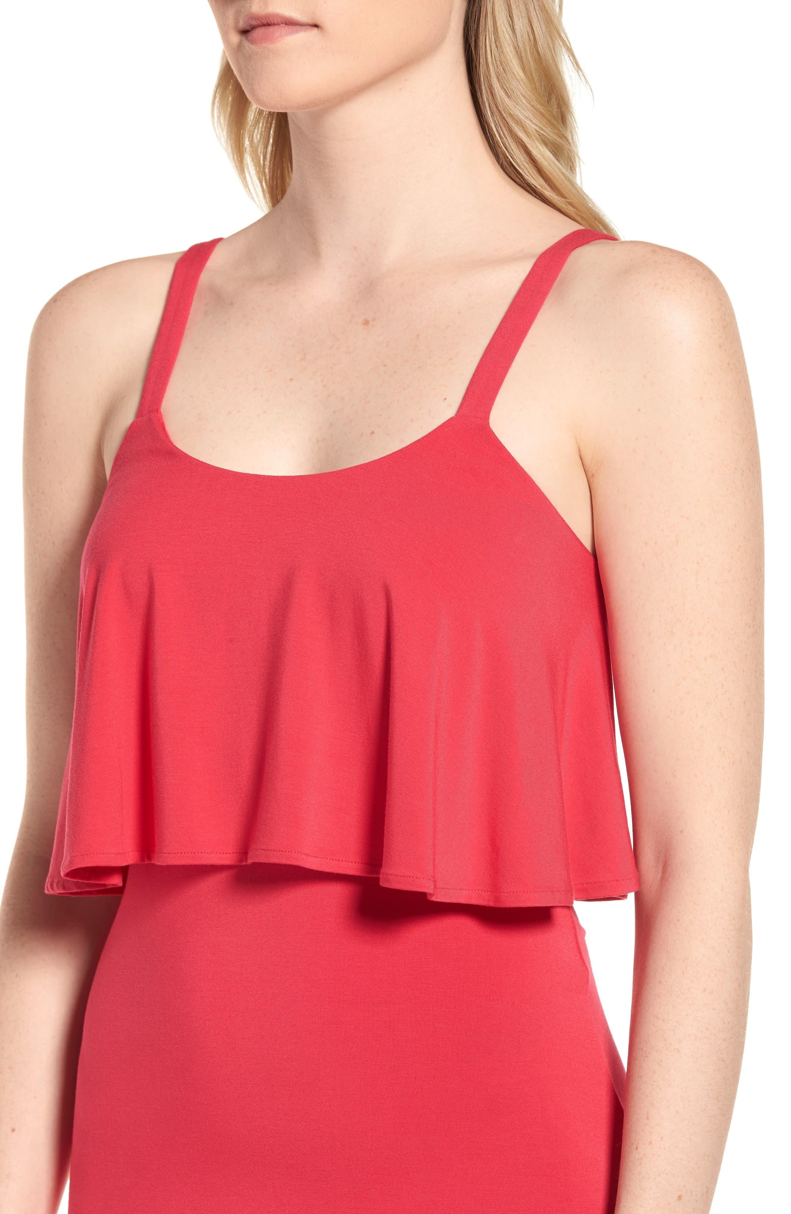 Flounce Front Dress,                             Alternate thumbnail 9, color,
