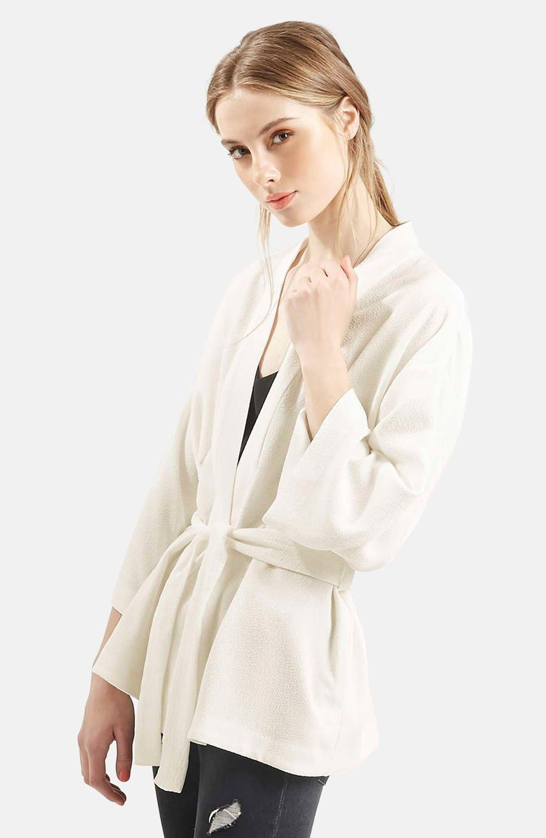 Belted Kimono Jacket, Main, color, 900