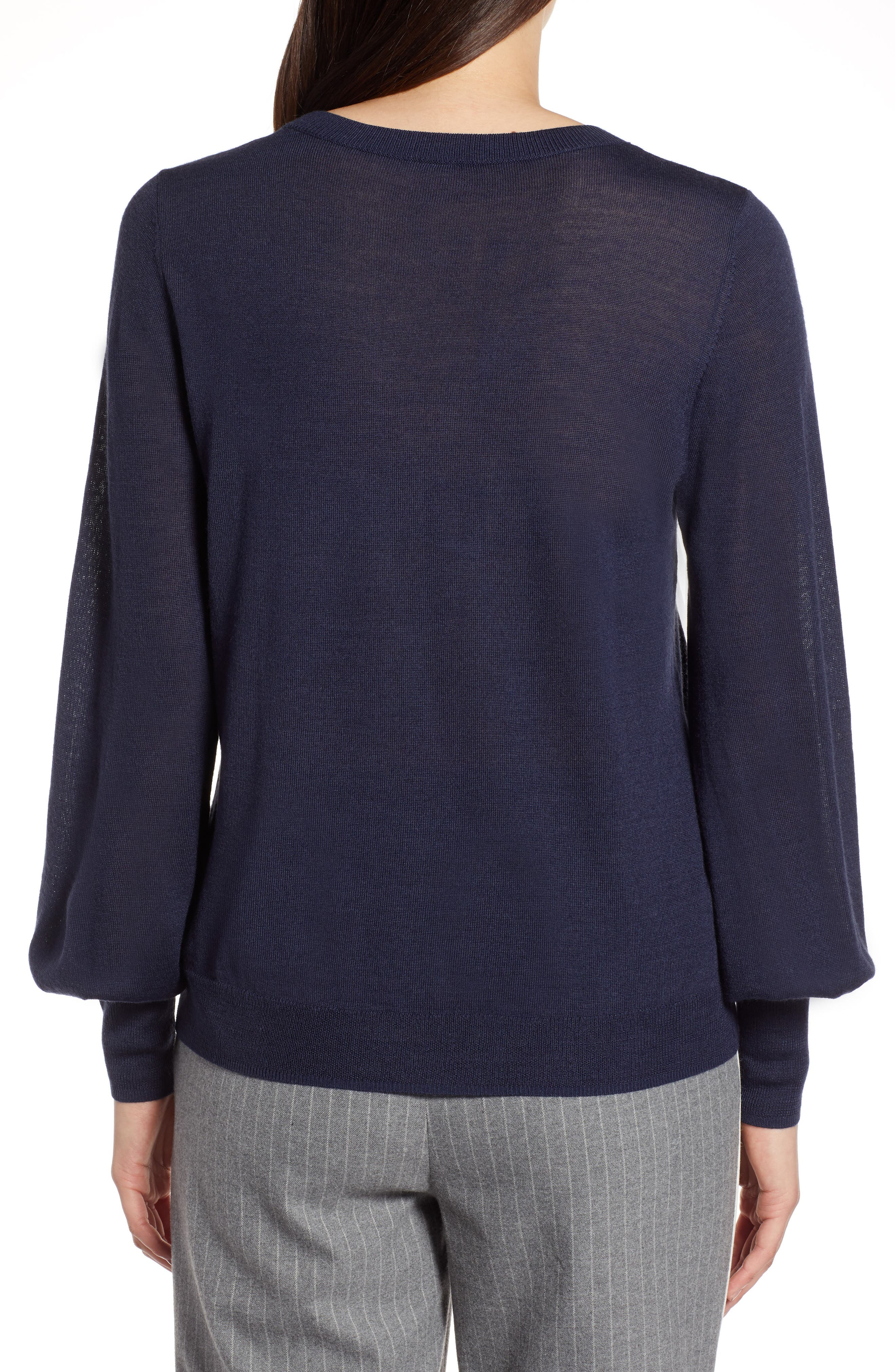 Puff Sleeve Sweater,                             Alternate thumbnail 16, color,