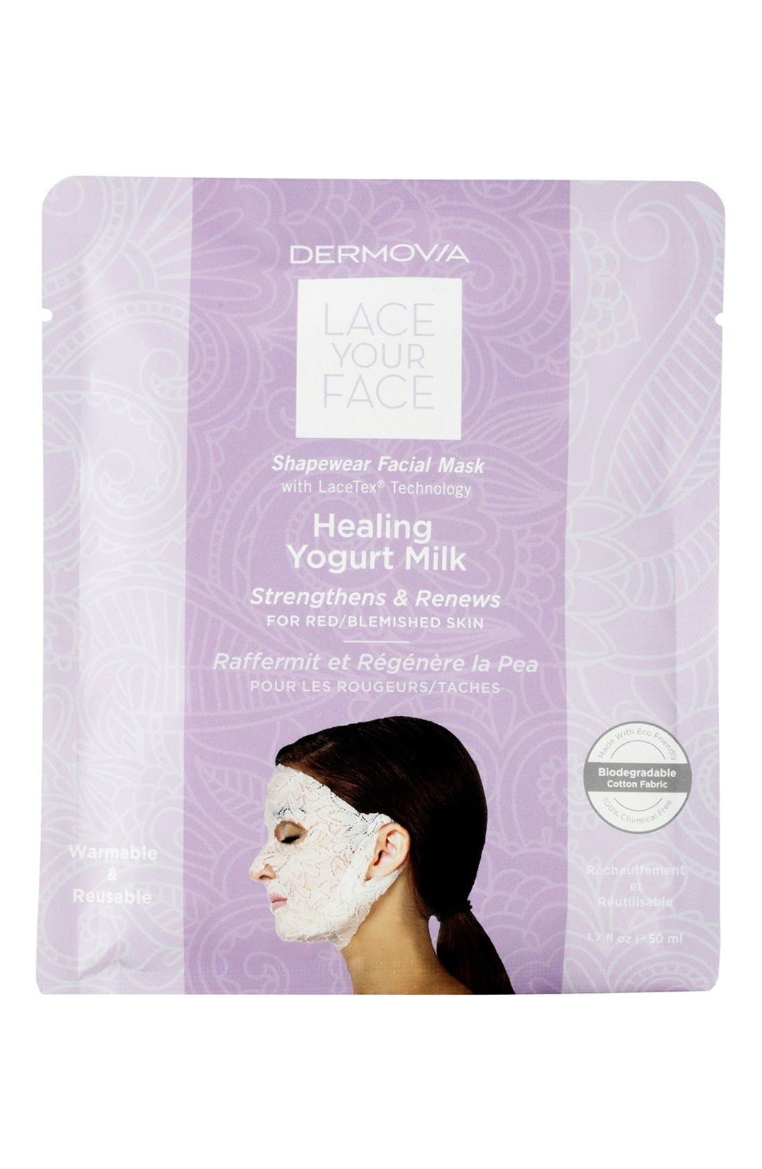Lace Your Face Healing Yogurt Compression Facial Mask,                             Main thumbnail 1, color,                             NONE