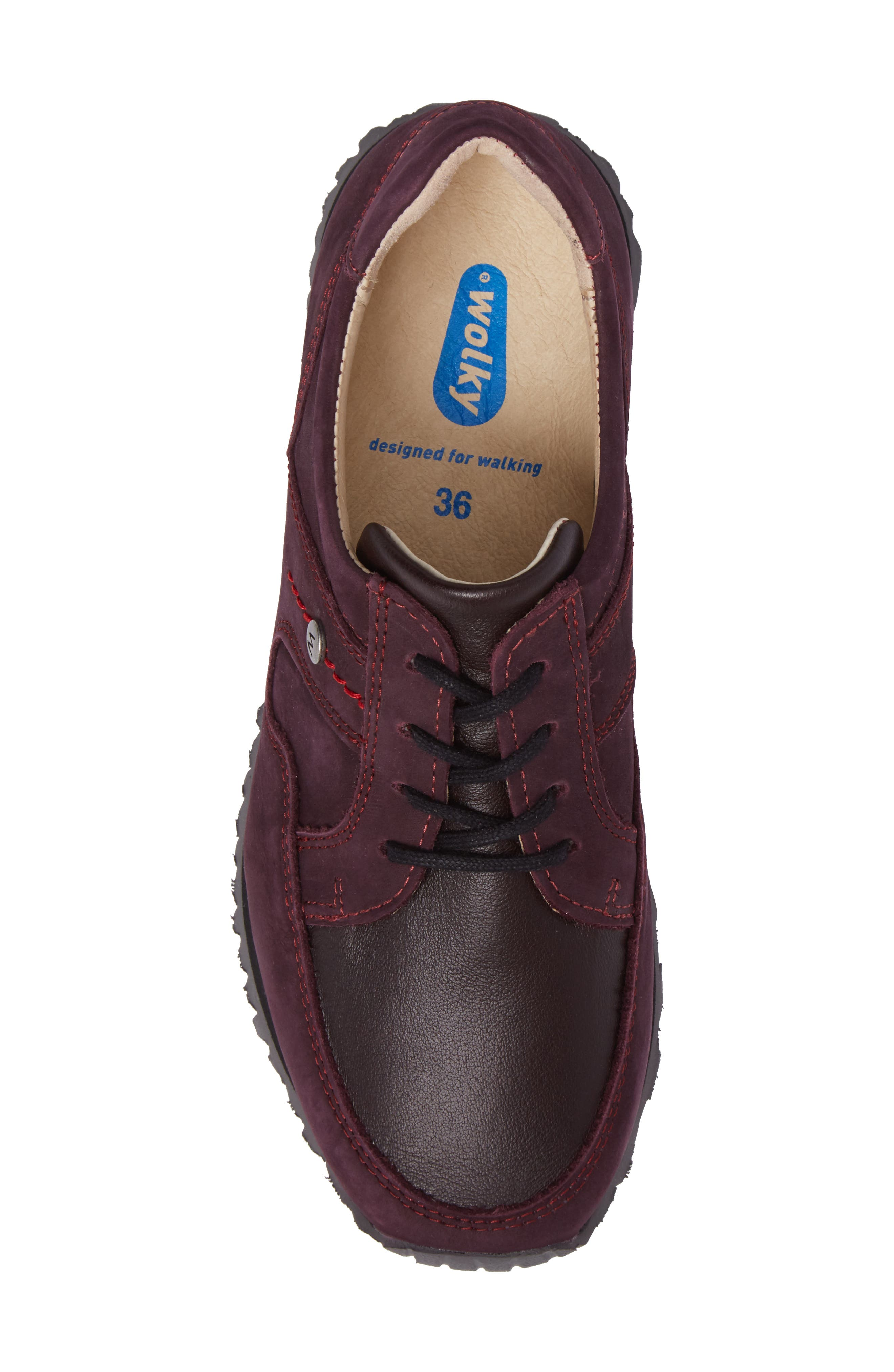 E-Walk Sneaker,                             Alternate thumbnail 5, color,                             BORDO LEATHER