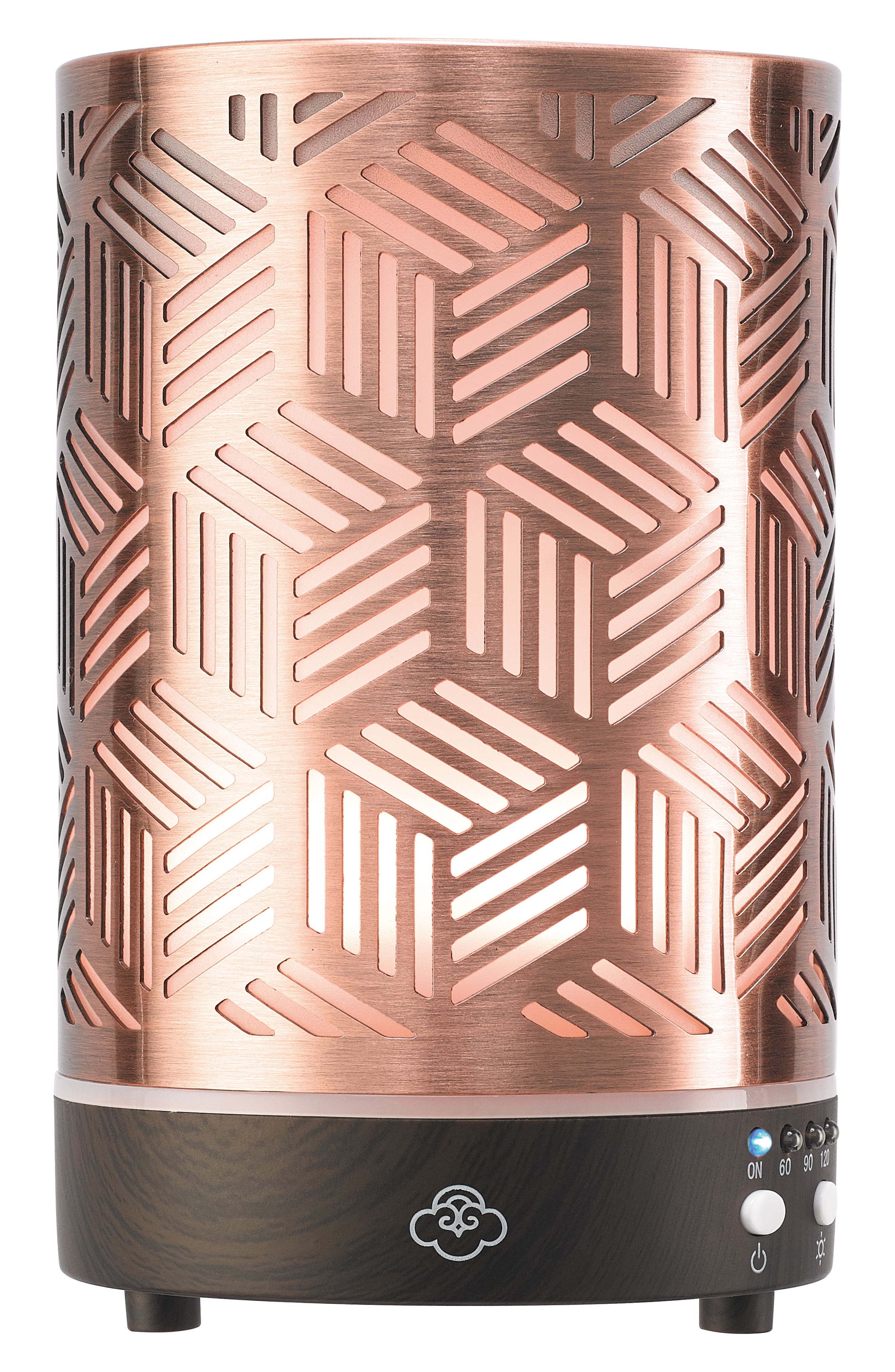 Array Ultrasonic Cool Mist Aromatherapy Diffuser, Main, color, COPPER