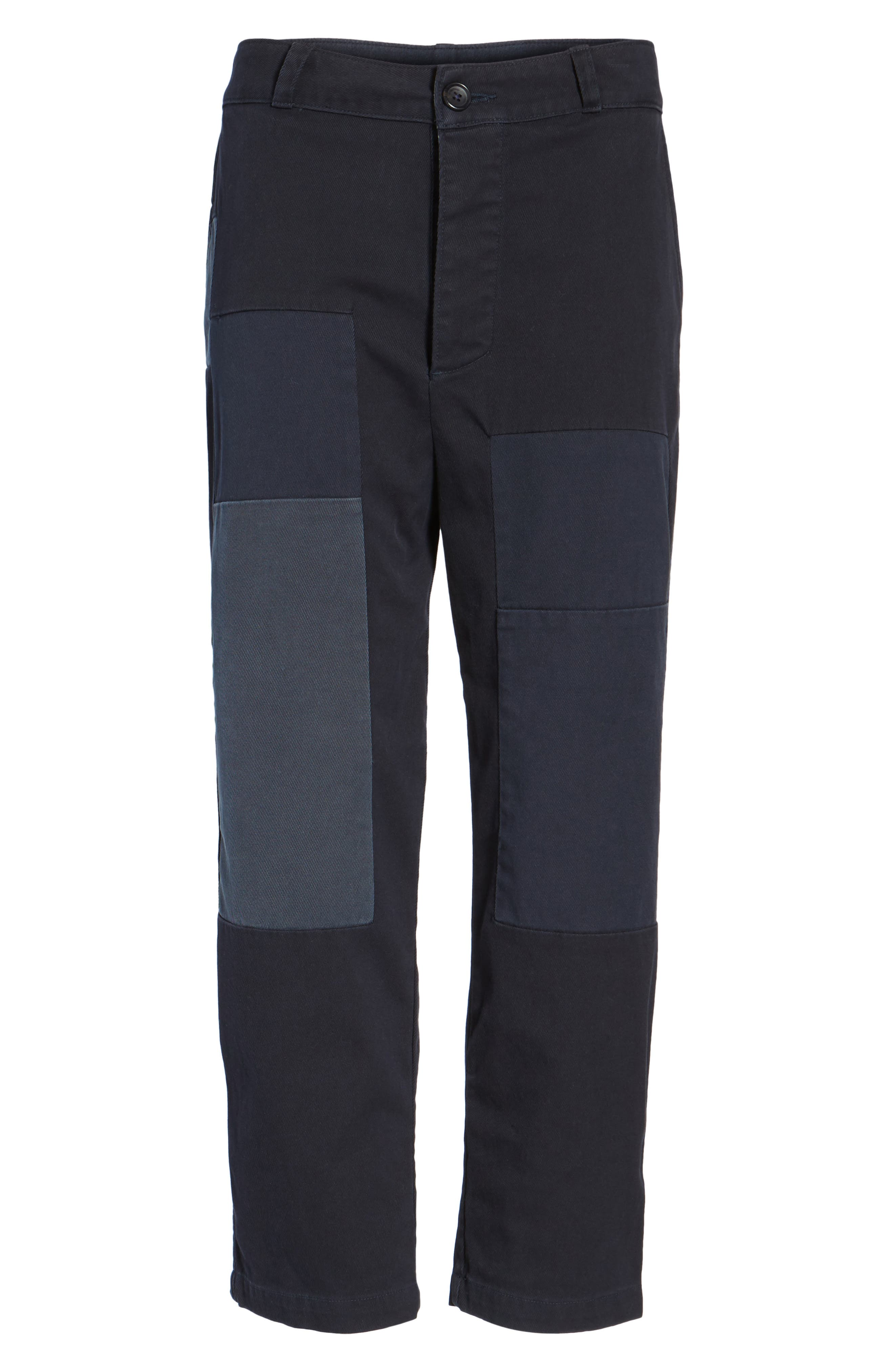 Crop Straight Leg Pants,                             Alternate thumbnail 6, color,                             011