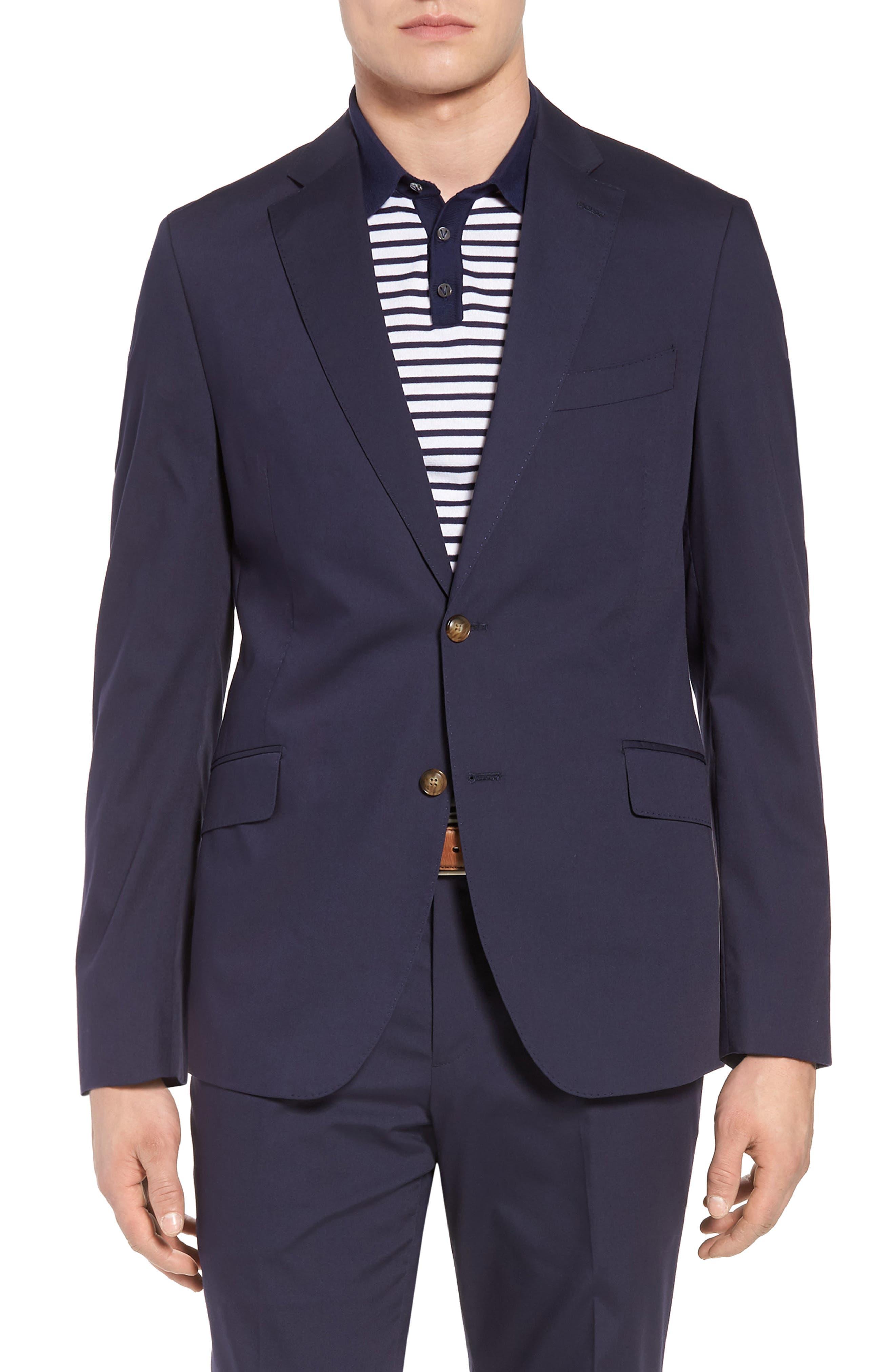 Irons AIM Classic Fit Solid Cotton Blend Suit,                             Alternate thumbnail 5, color,                             410