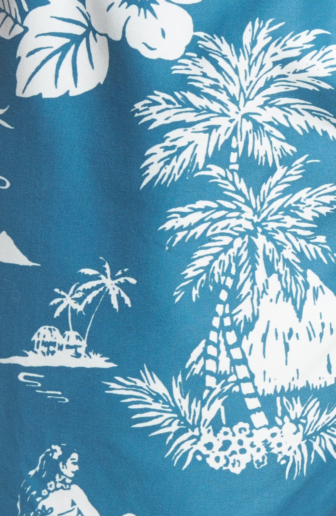 Outrigger Print Swim Trunks,                             Alternate thumbnail 5, color,                             400
