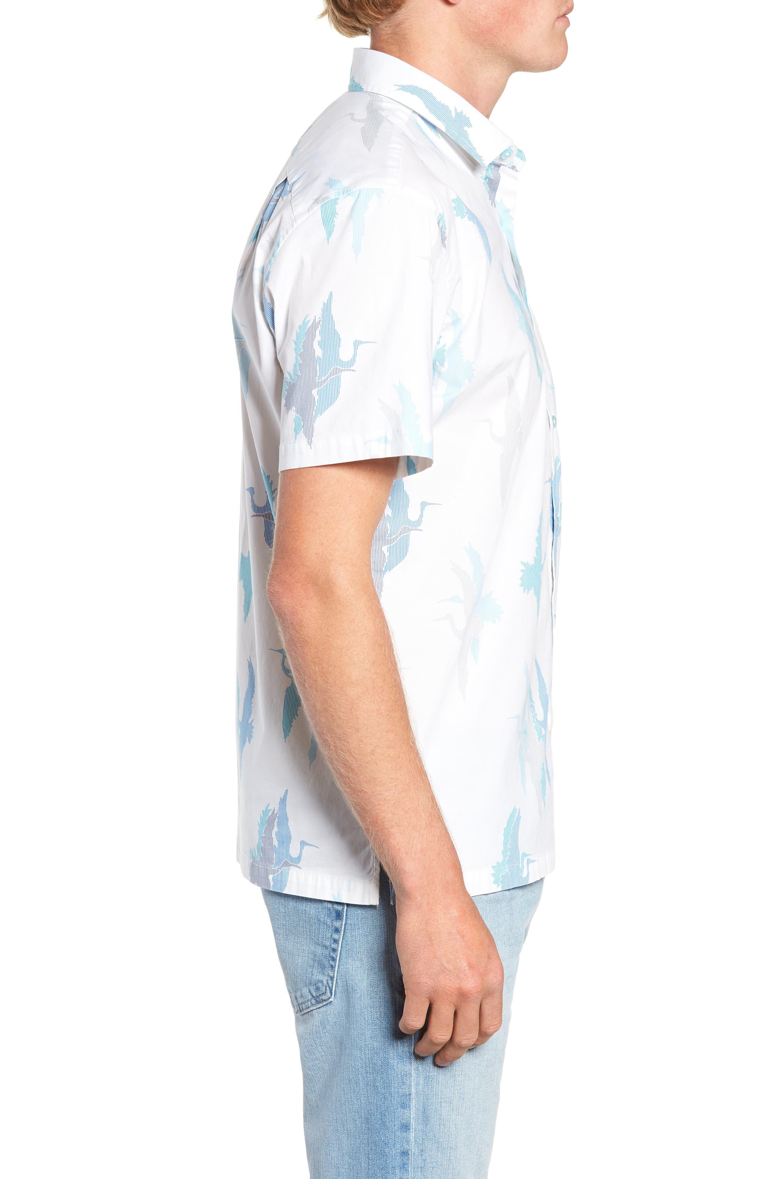 Shadow Crane Regular Fit Sport Shirt,                             Alternate thumbnail 4, color,                             100