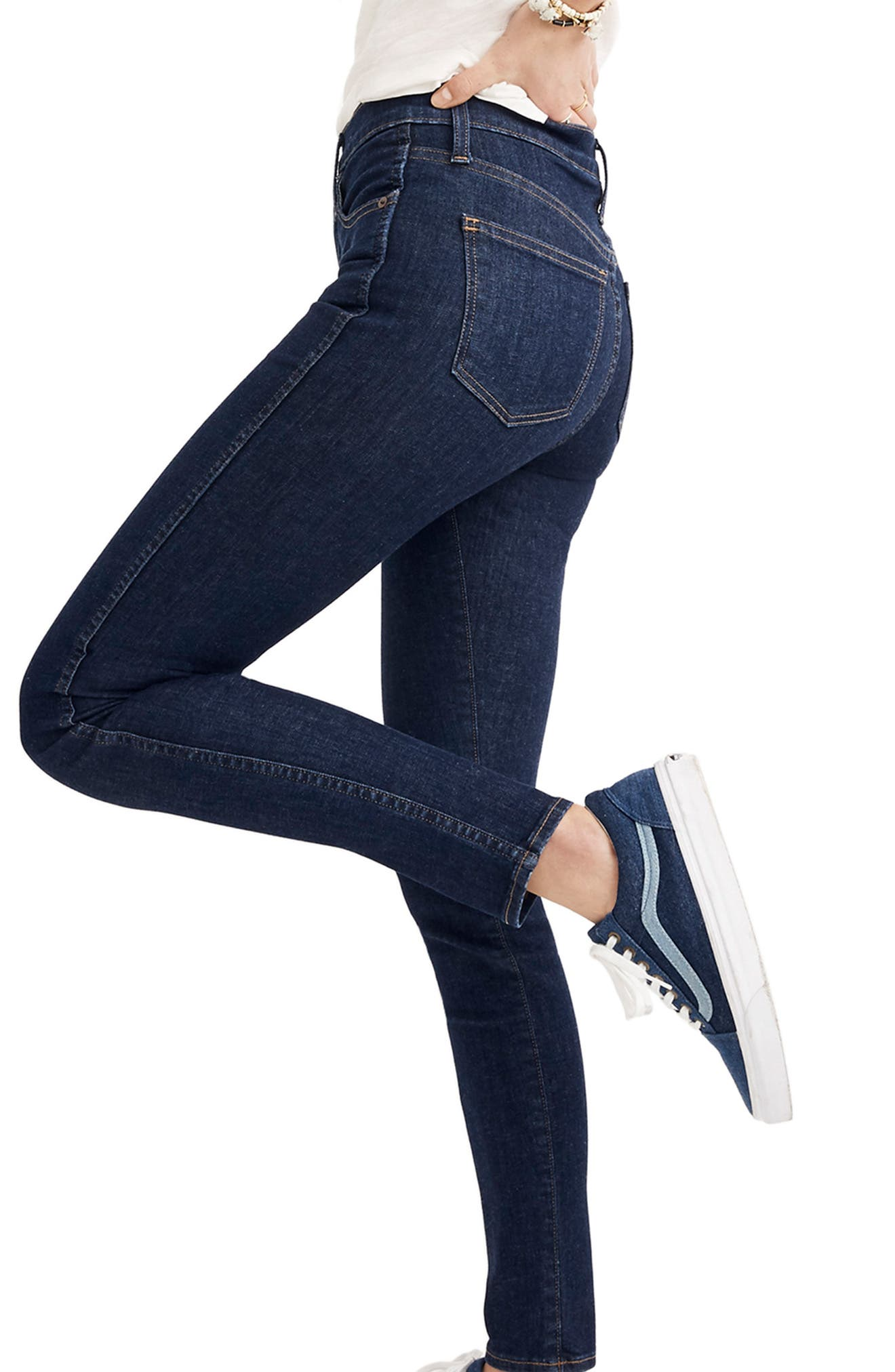 10-Inch High Waist Skinny Jeans,                             Alternate thumbnail 4, color,                             400