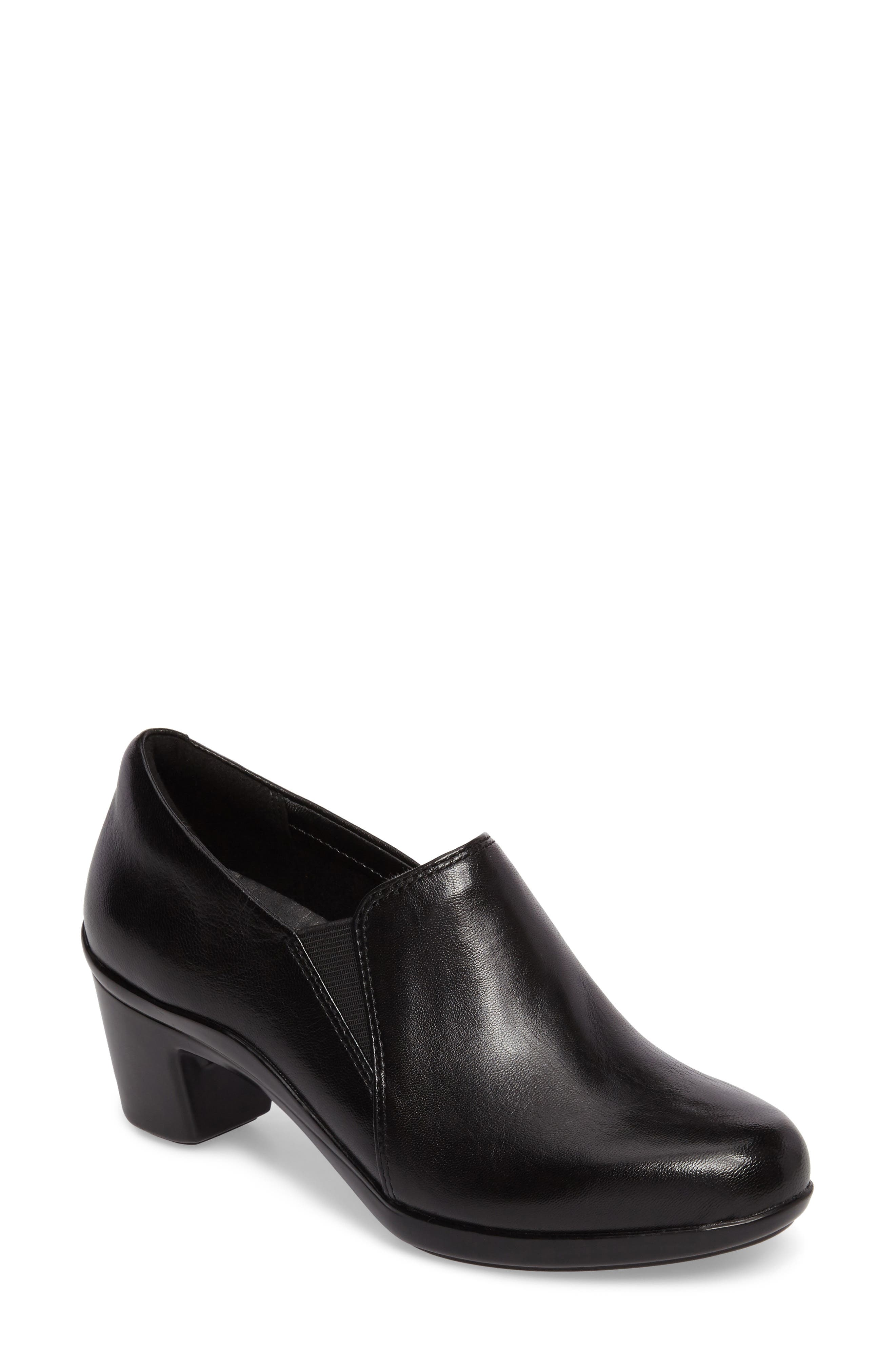 Lexee Bootie,                         Main,                         color, BLACK LEATHER