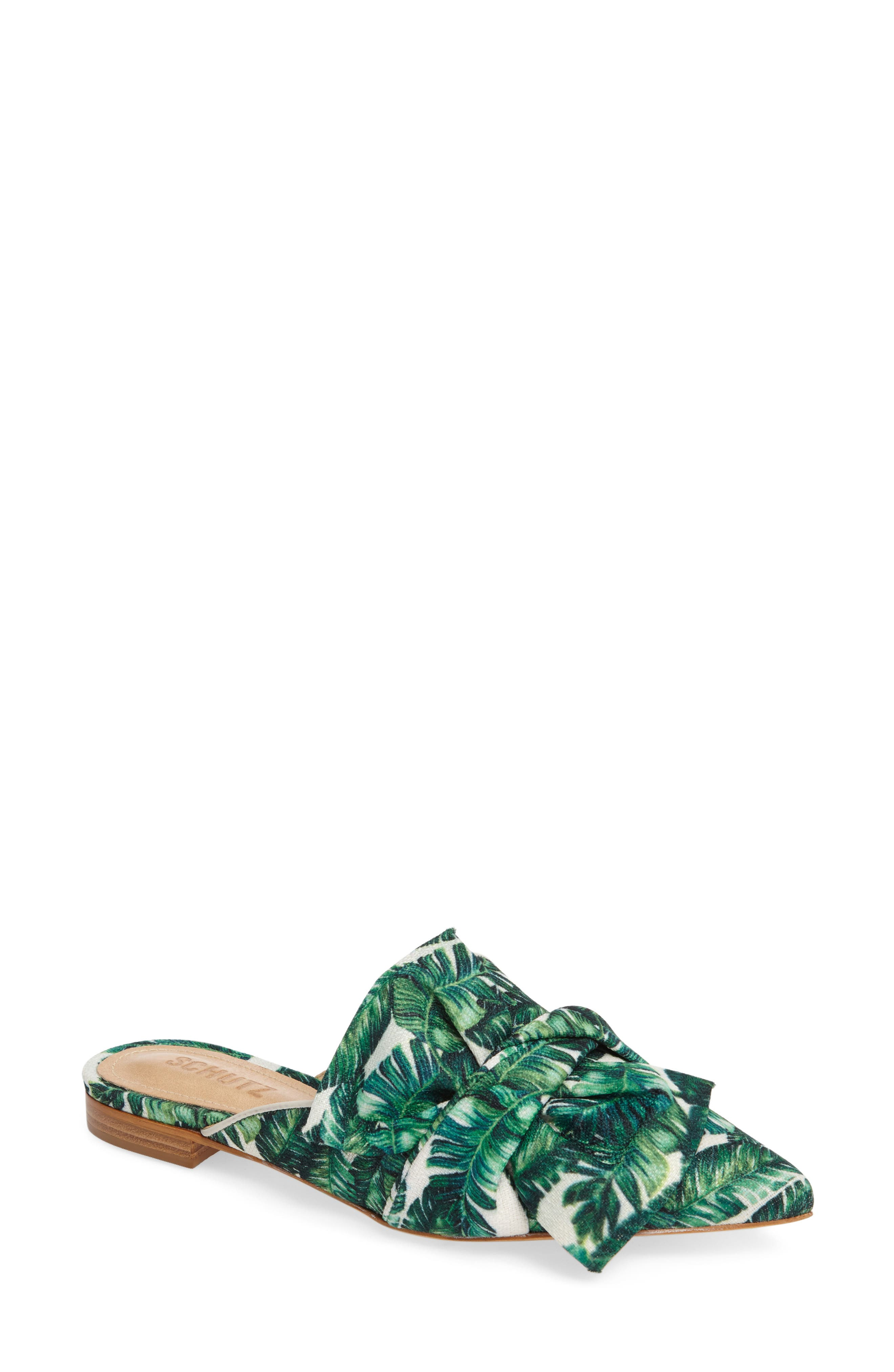 SCHUTZ D'Ana Knotted Loafer Mule, Main, color, 100