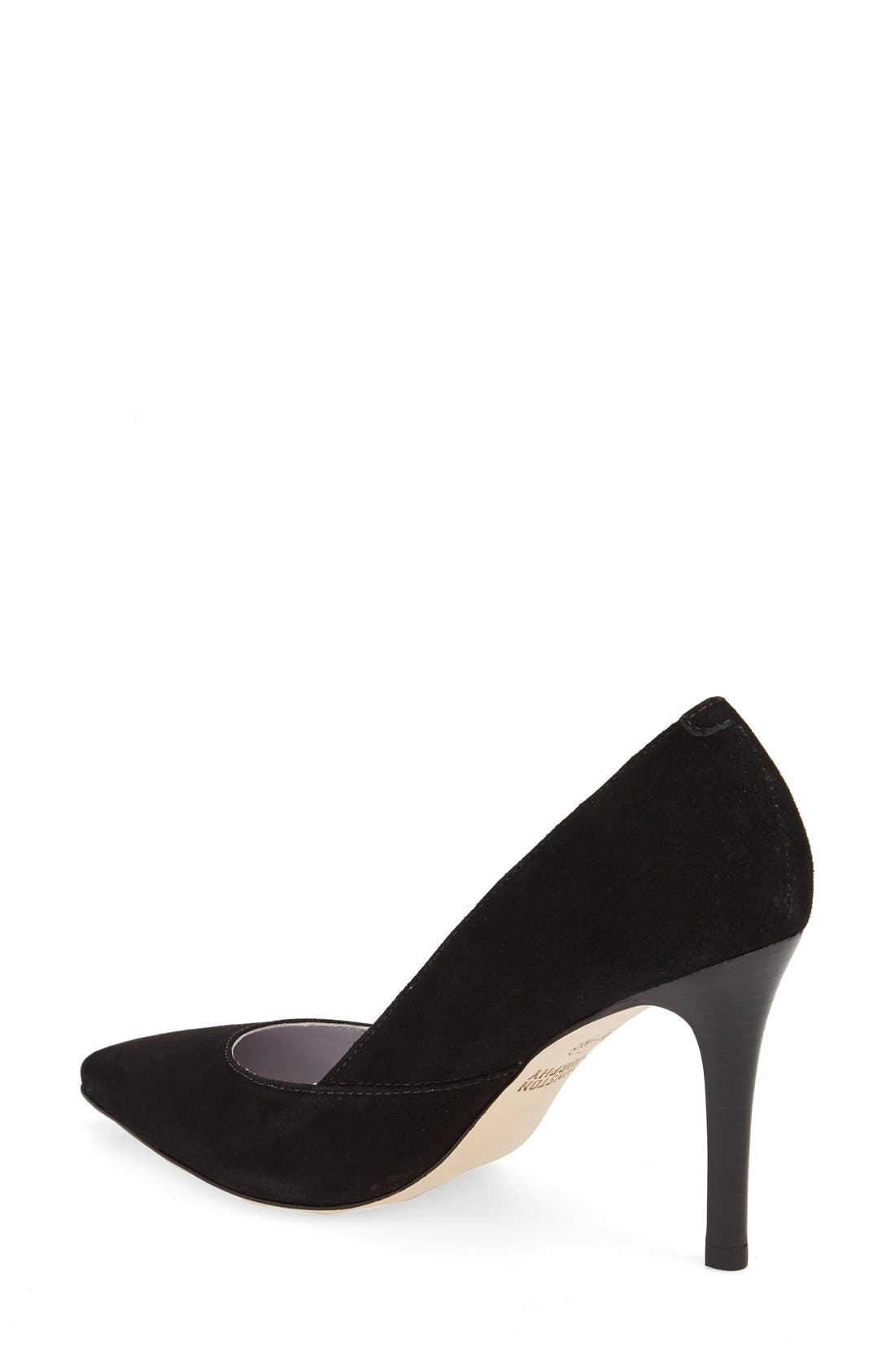'Vanessa' Pointy Toe Leather Pump,                             Alternate thumbnail 9, color,