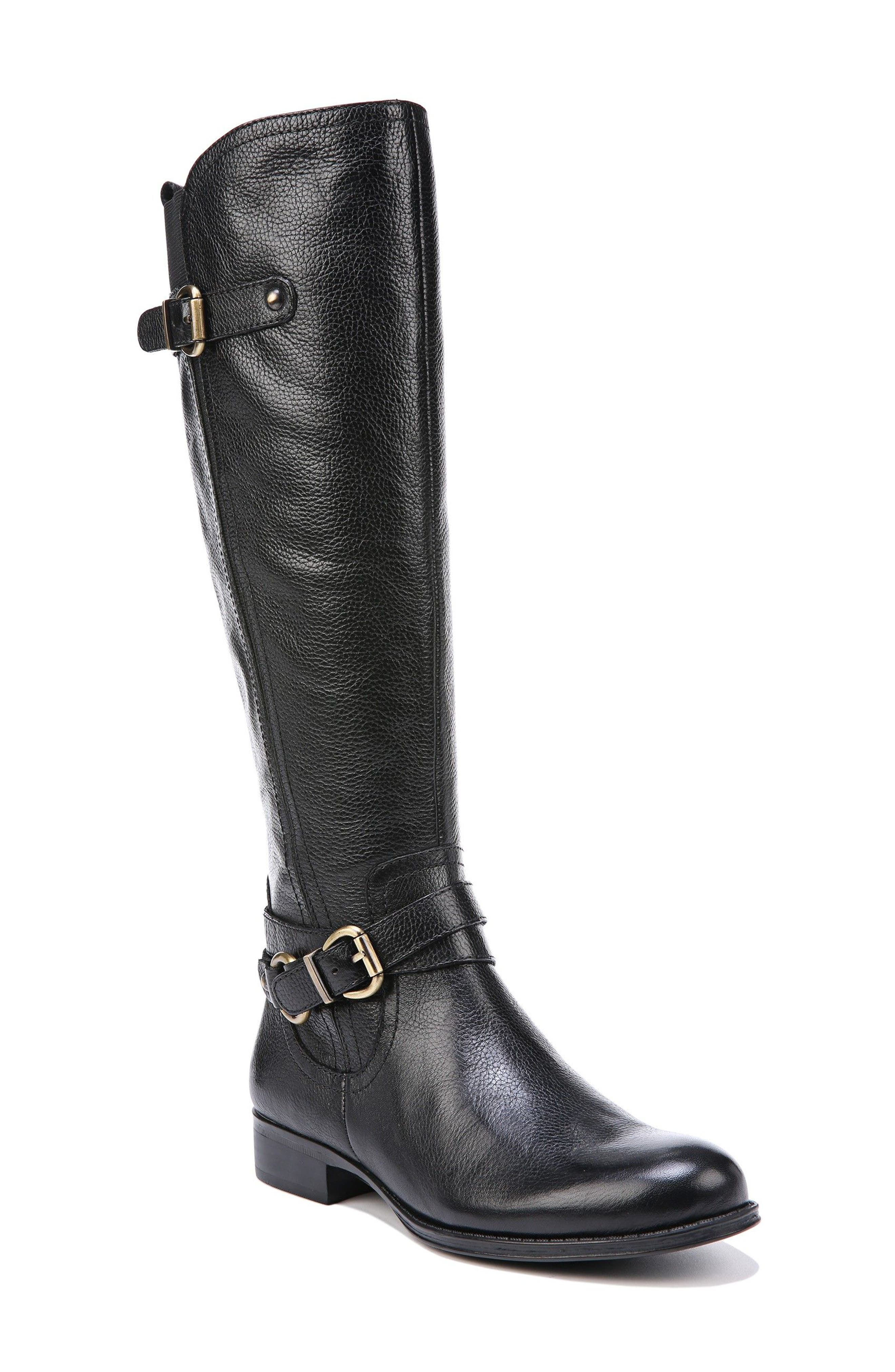 Jodee Knee High Boot,                             Main thumbnail 1, color,                             BLACK LEATHER