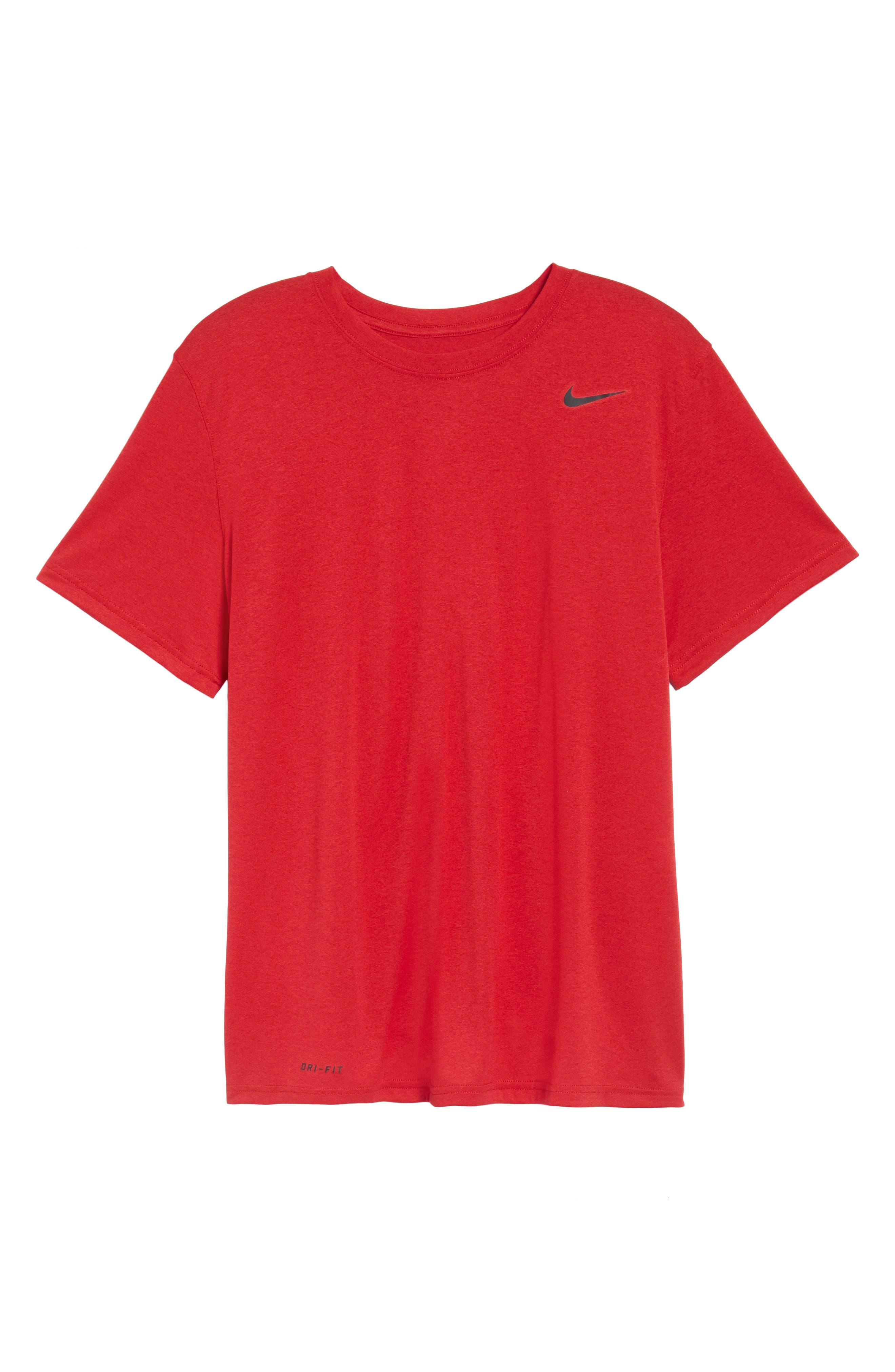 Legend 2.0 Dri-FIT Graphic T-Shirt,                             Alternate thumbnail 5, color,                             GYM RED/BLACK/BLACK