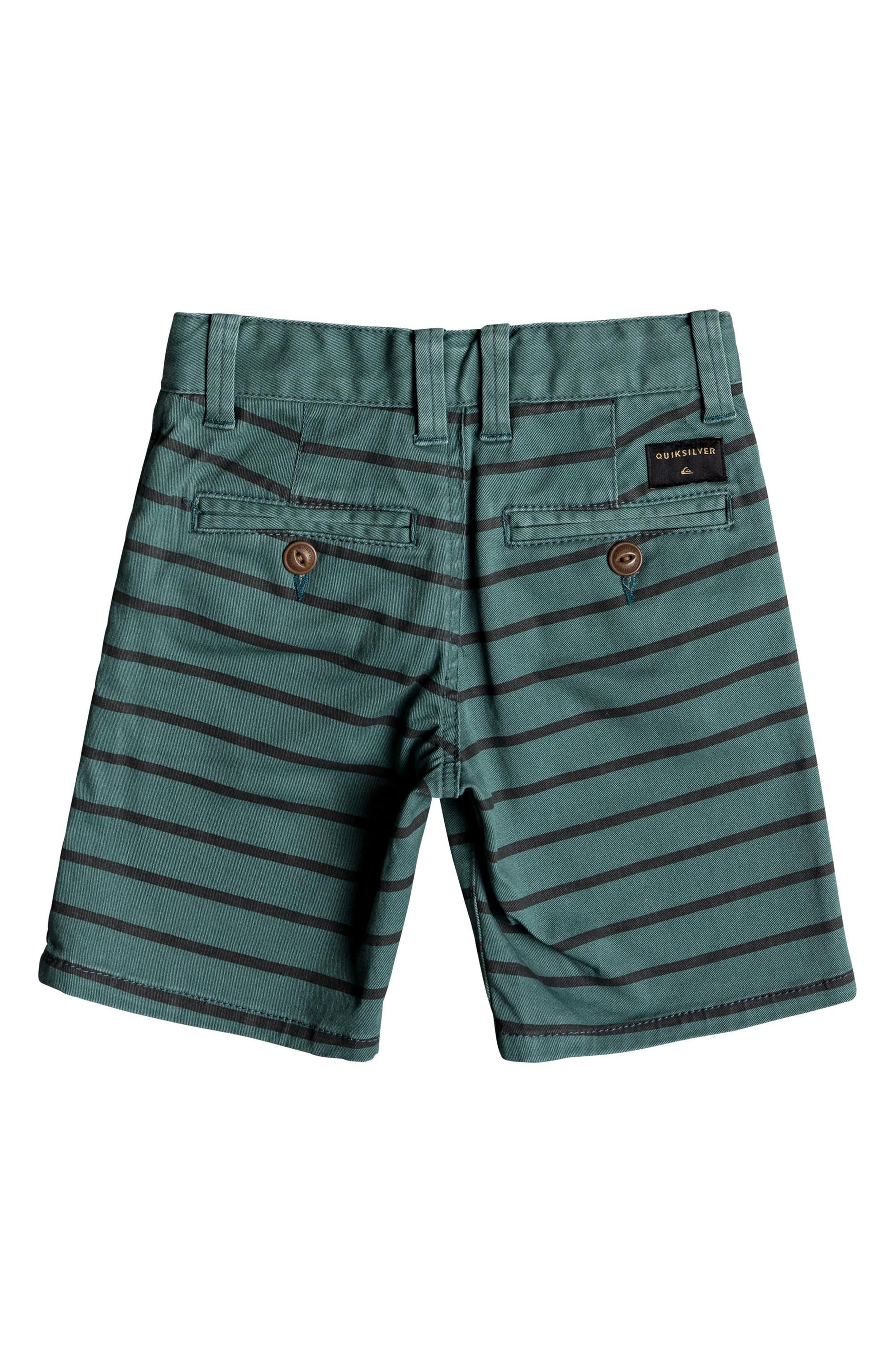 Waiku Stripe Shorts,                             Alternate thumbnail 2, color,                             MALLARD GREEN
