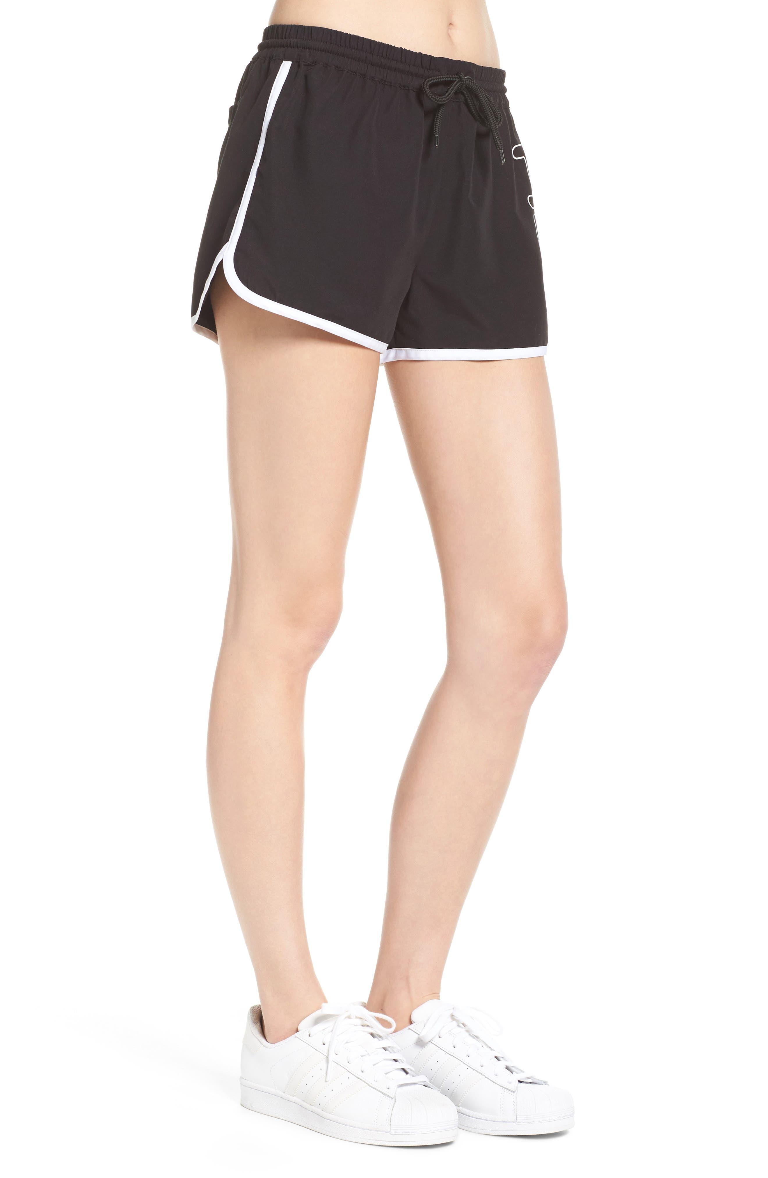 Conchetta Logo Shorts,                             Alternate thumbnail 3, color,                             001