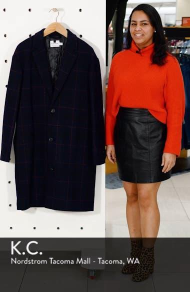 Hadyn Oversize Check Print Overcoat, sales video thumbnail