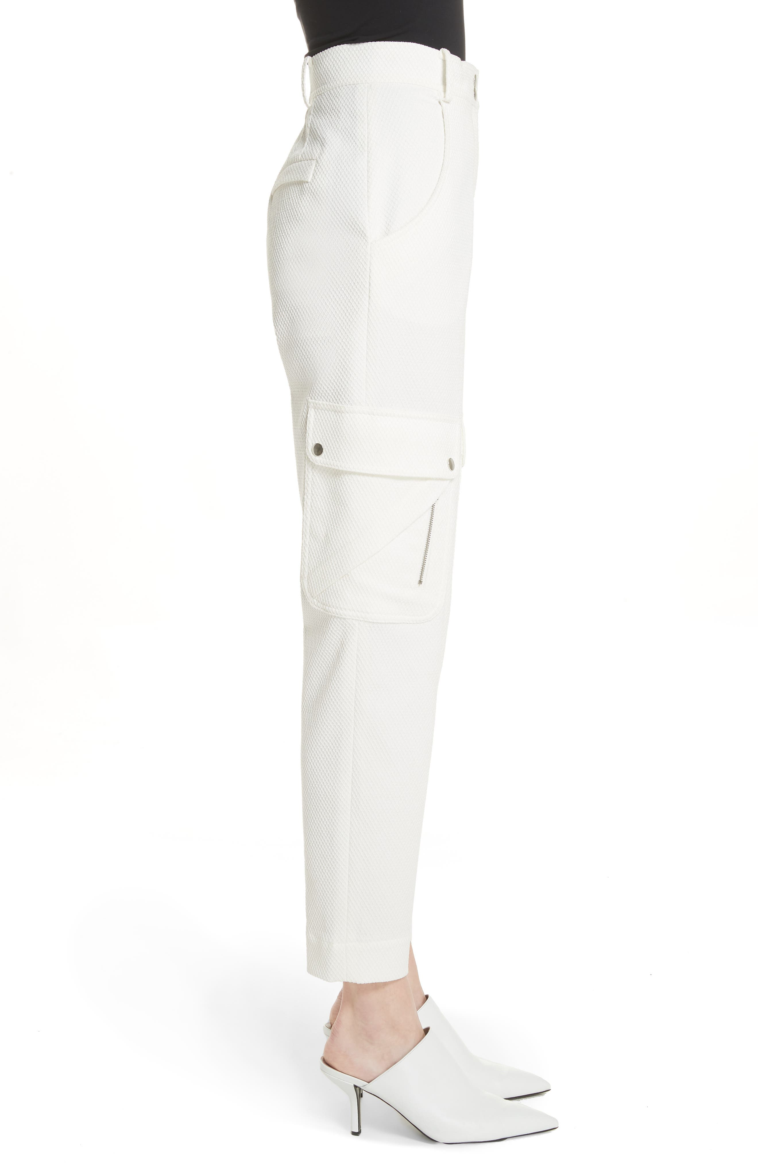 Textured Stretch Cotton Blend Utility Pants,                             Alternate thumbnail 3, color,                             116