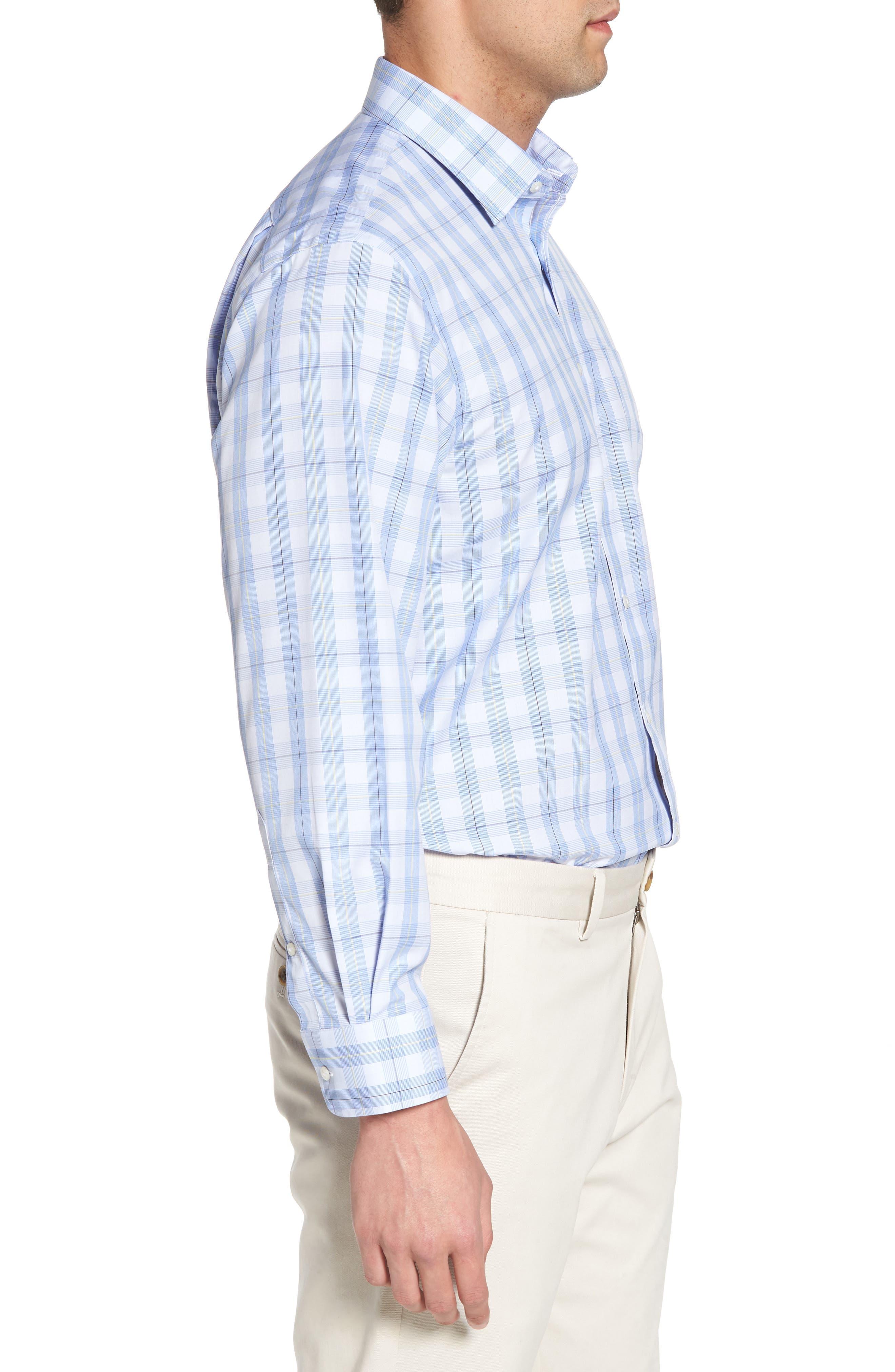 Smartcare<sup>™</sup> Traditional Fit Plaid Sport Shirt,                             Alternate thumbnail 4, color,