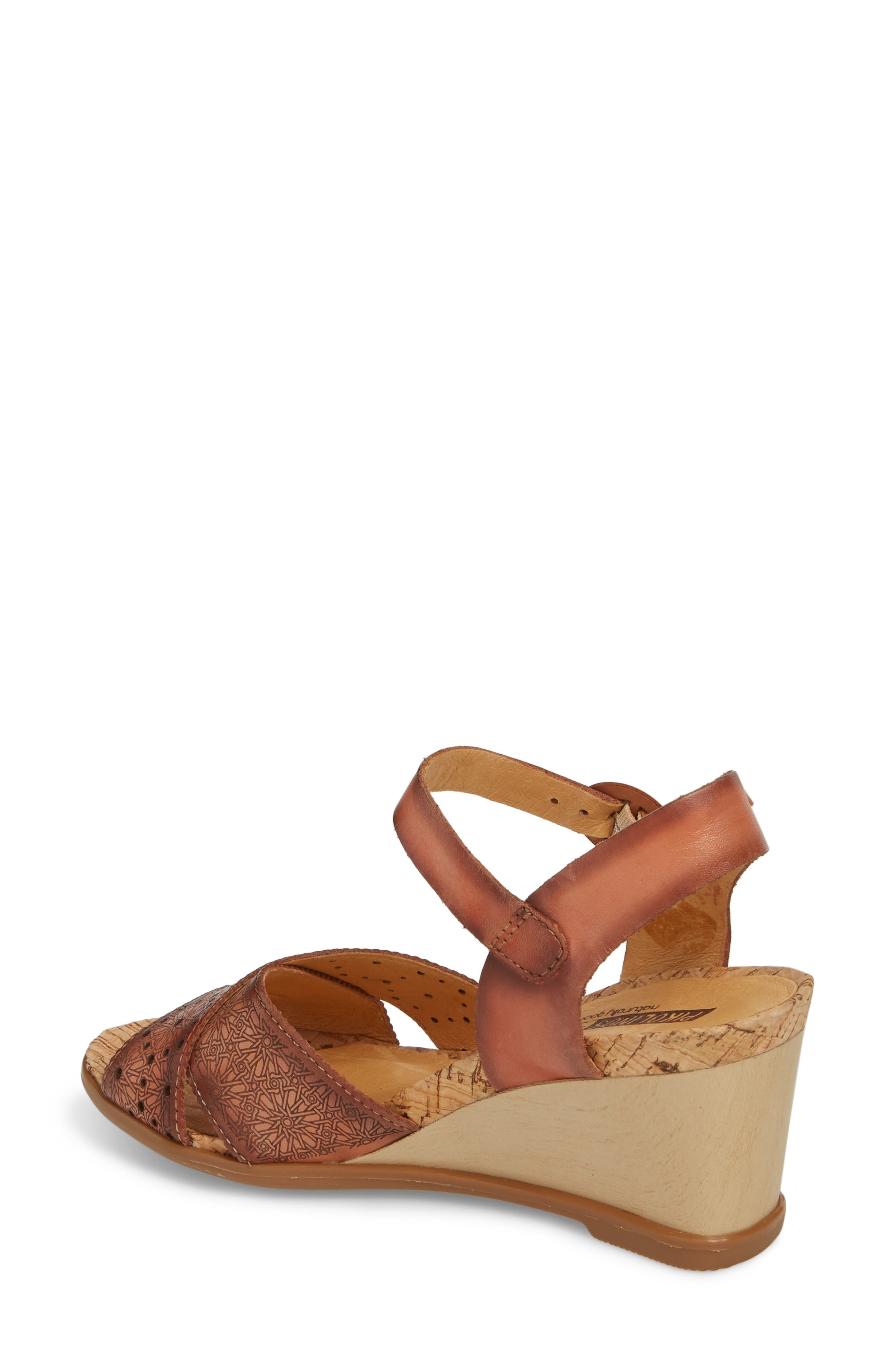 Vigo Wedge Sandal,                             Alternate thumbnail 2, color,                             FLAMINGO LEATHER