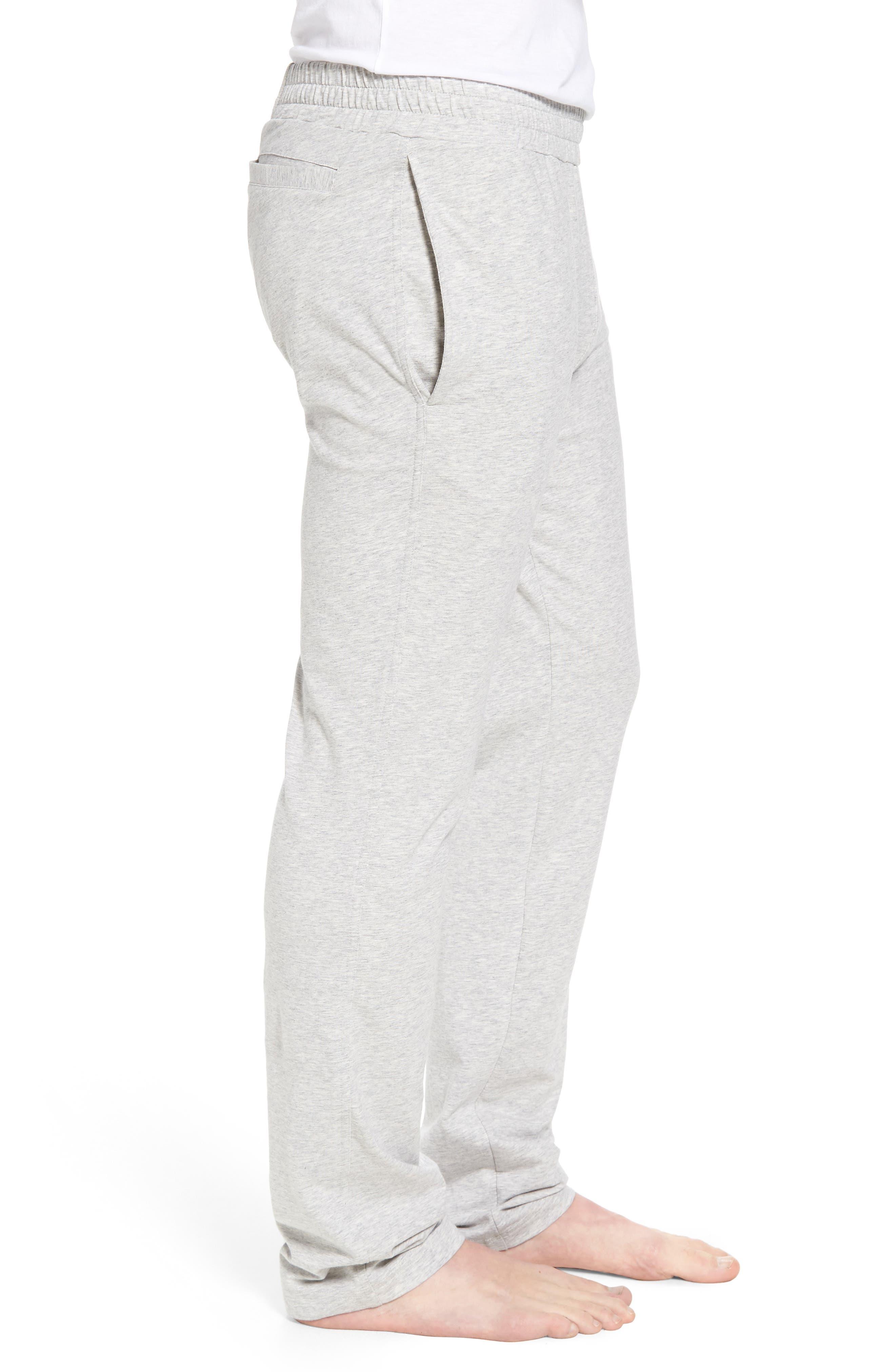Classic Liquid Cotton Stretch Pants,                             Alternate thumbnail 3, color,                             HEATHER GREY