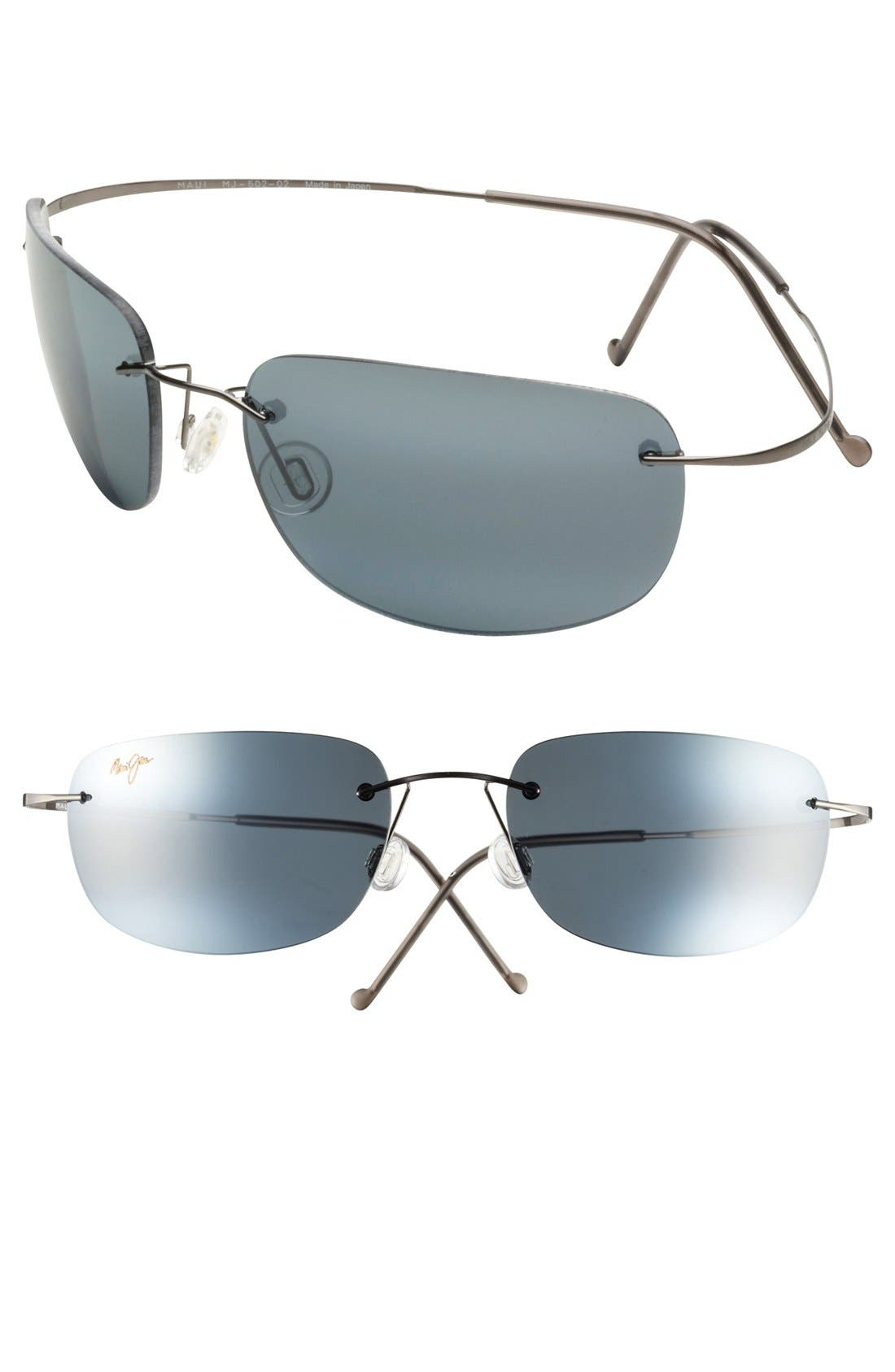 Kapalua 57mm PolarizedPlus2<sup>®</sup> Hingeless Sunglasses,                         Main,                         color, 001