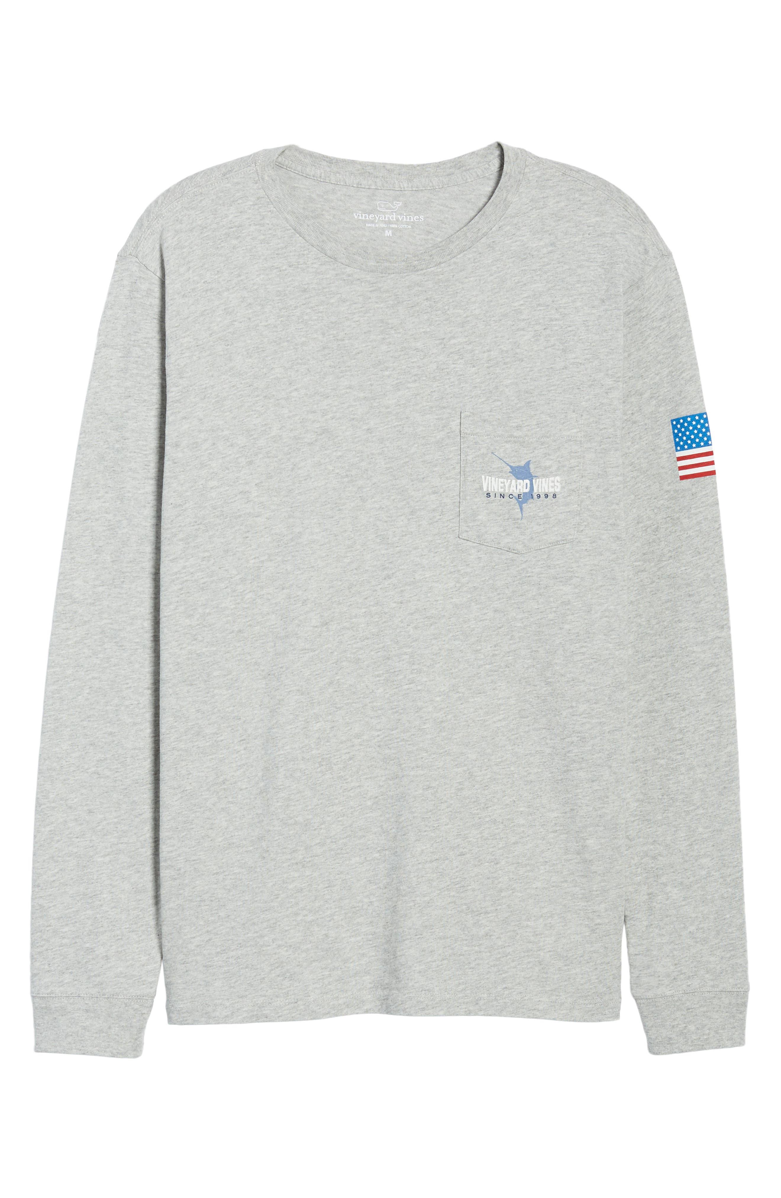 Marlin 98 Long Sleeve Pocket T-Shirt,                             Alternate thumbnail 6, color,                             039