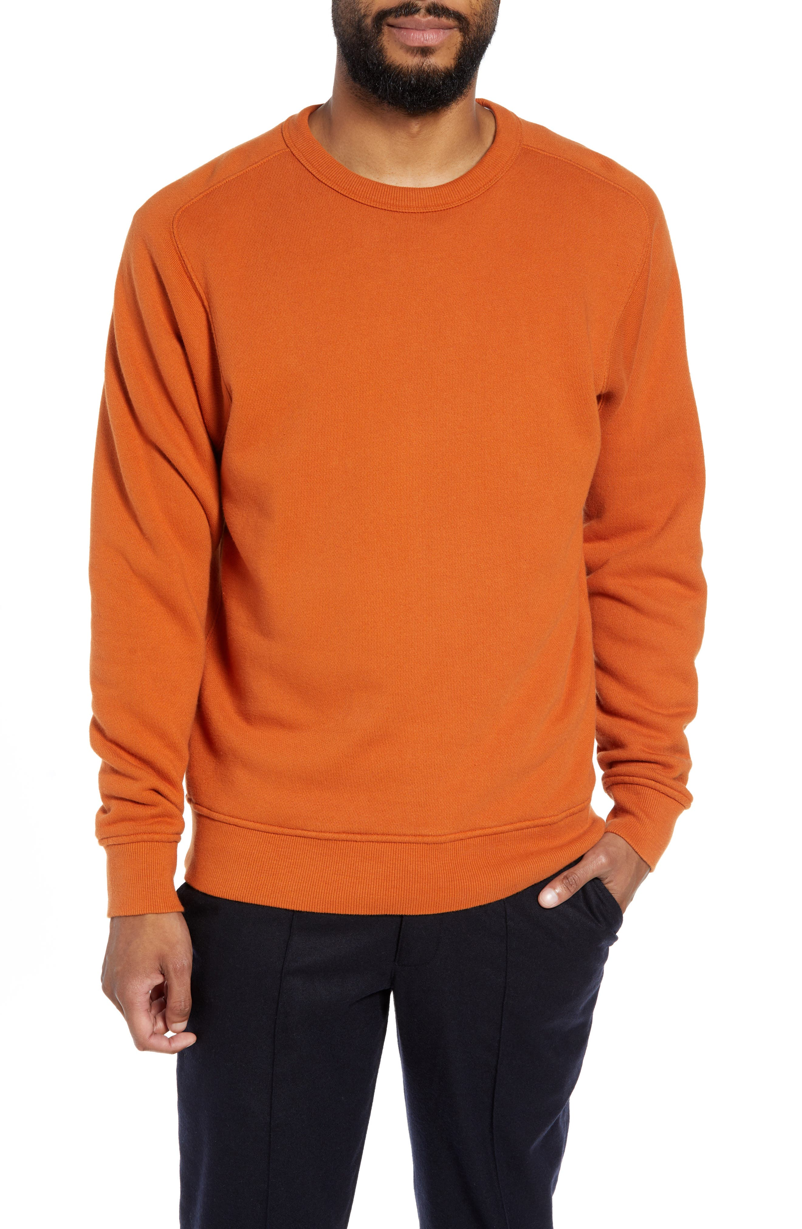 Almost Grown Crewneck Sweatshirt,                             Main thumbnail 1, color,                             RUST